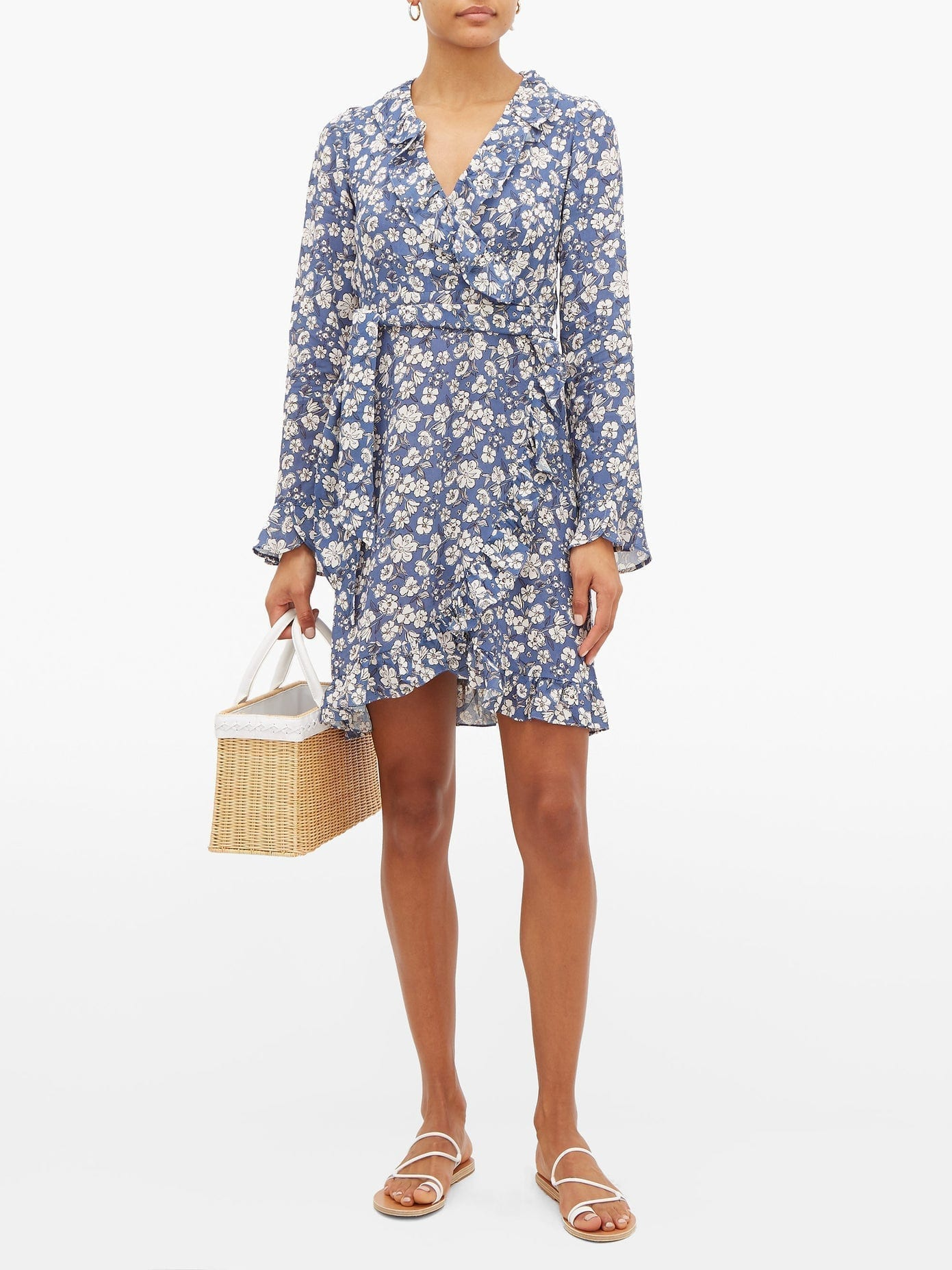 BELIZE Ramona Ruffled Floral-print Crepe Dress