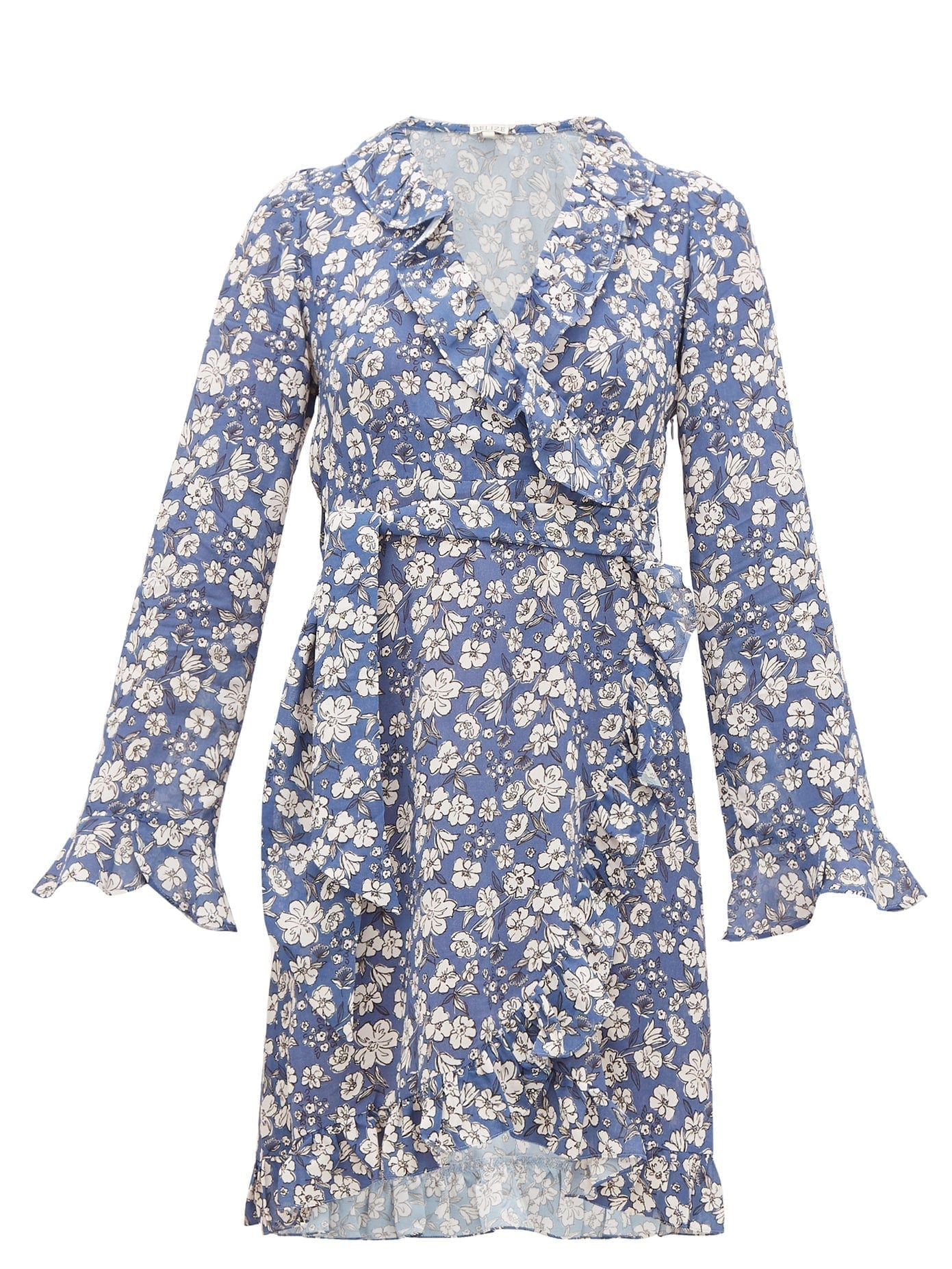 BELIZE Ramona Ruffled Floral-print Crepe Dress