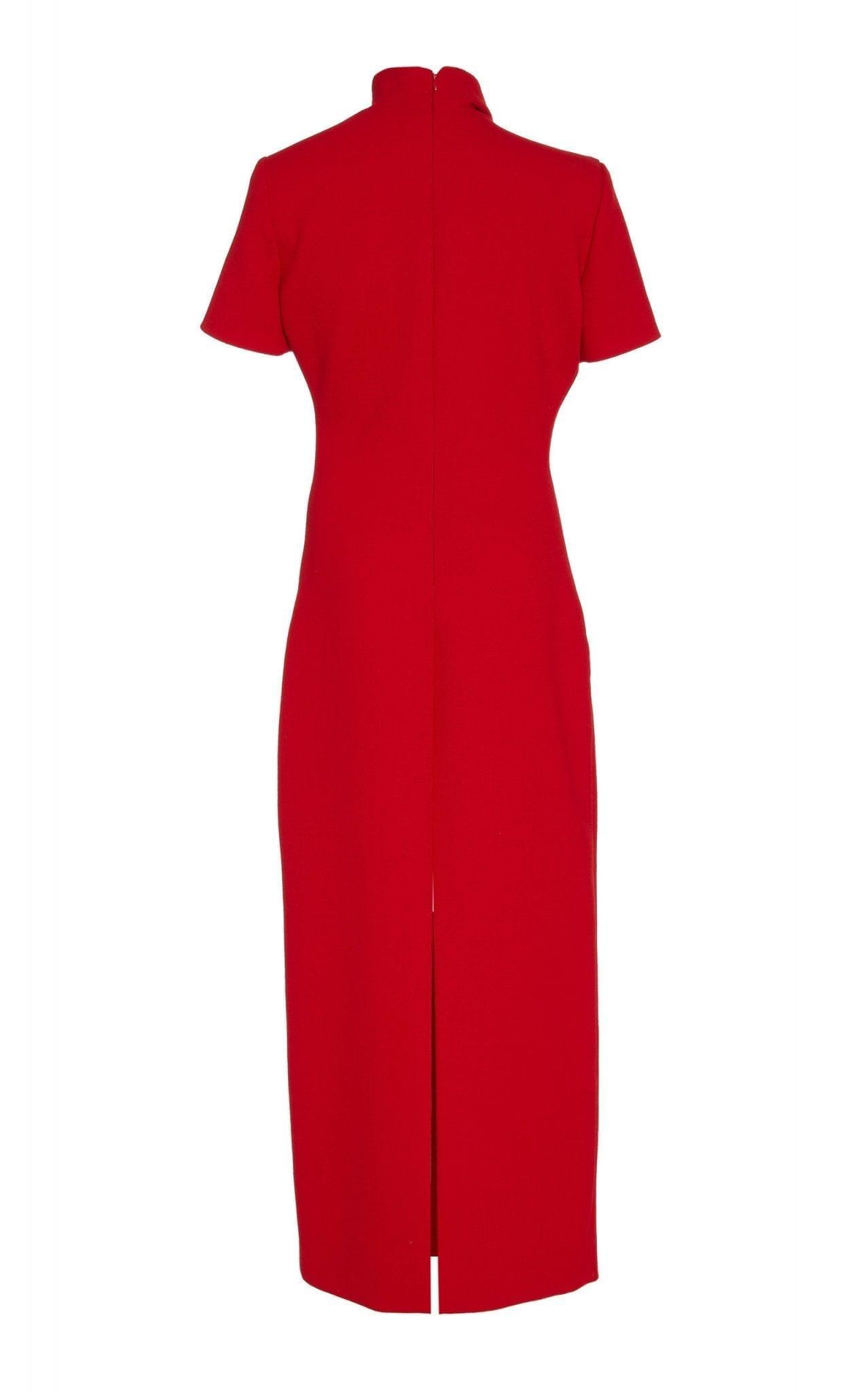 BRANDON MAXWELL Exclusive Draped Wool-Crepe Midi Dress