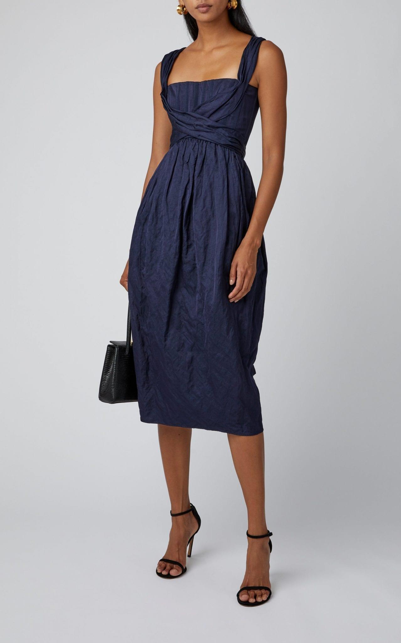 BROCK COLLECTION Cotton-Poplin Midi Dress