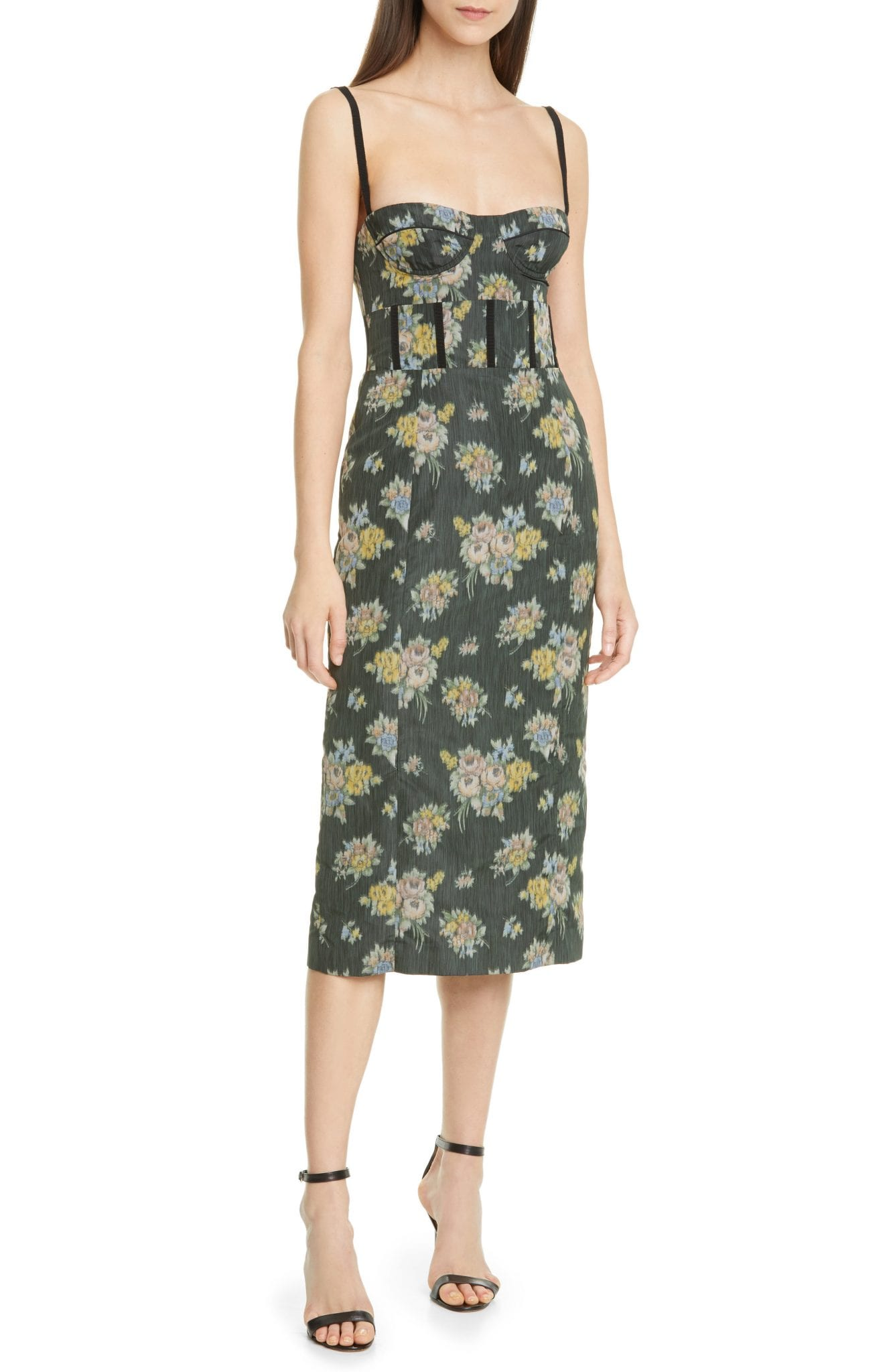 BROCK COLLECTION Floral Print Bustier Dress