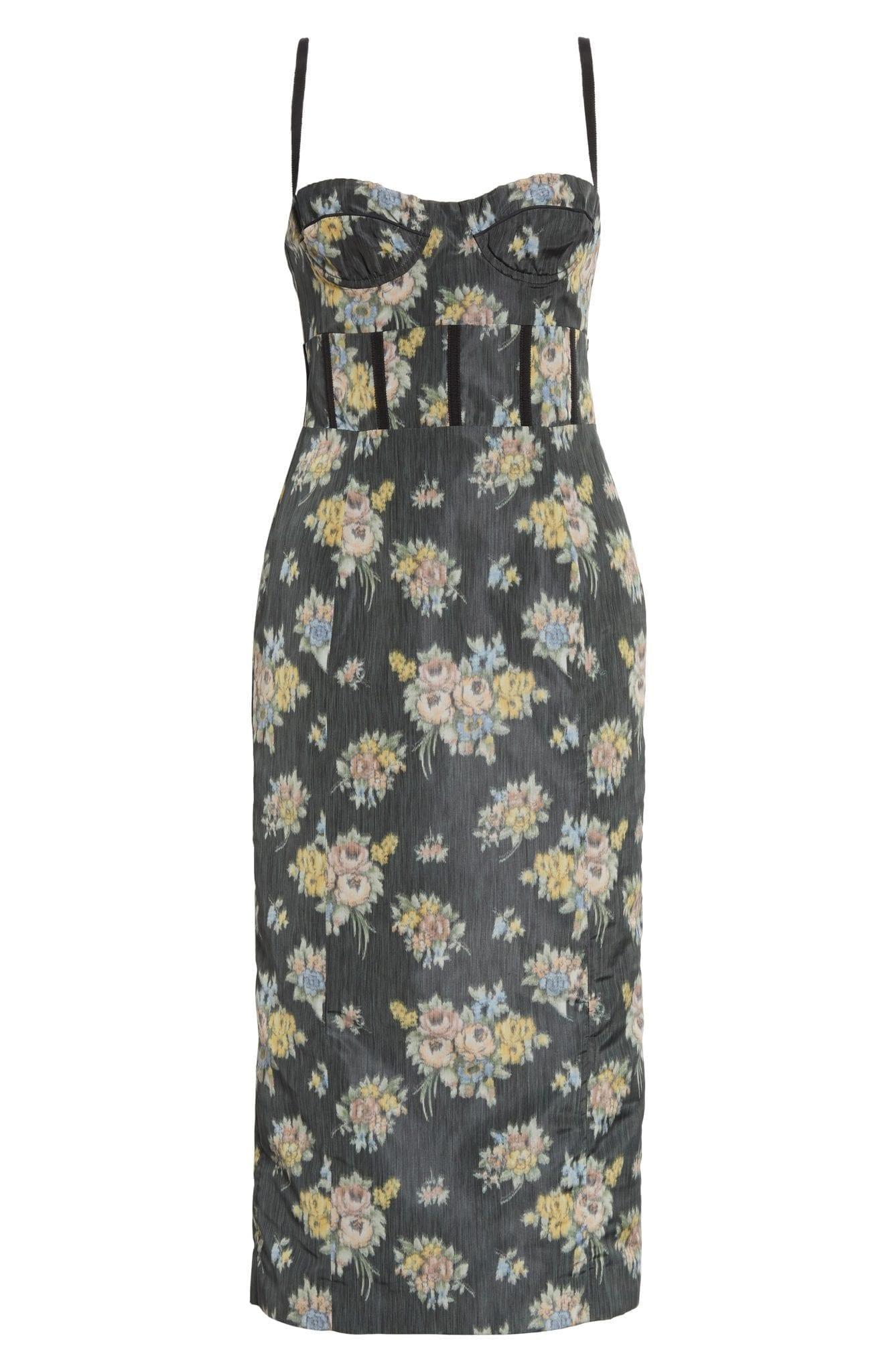 BROCK COLLECTION Floral Print Bustier Dress