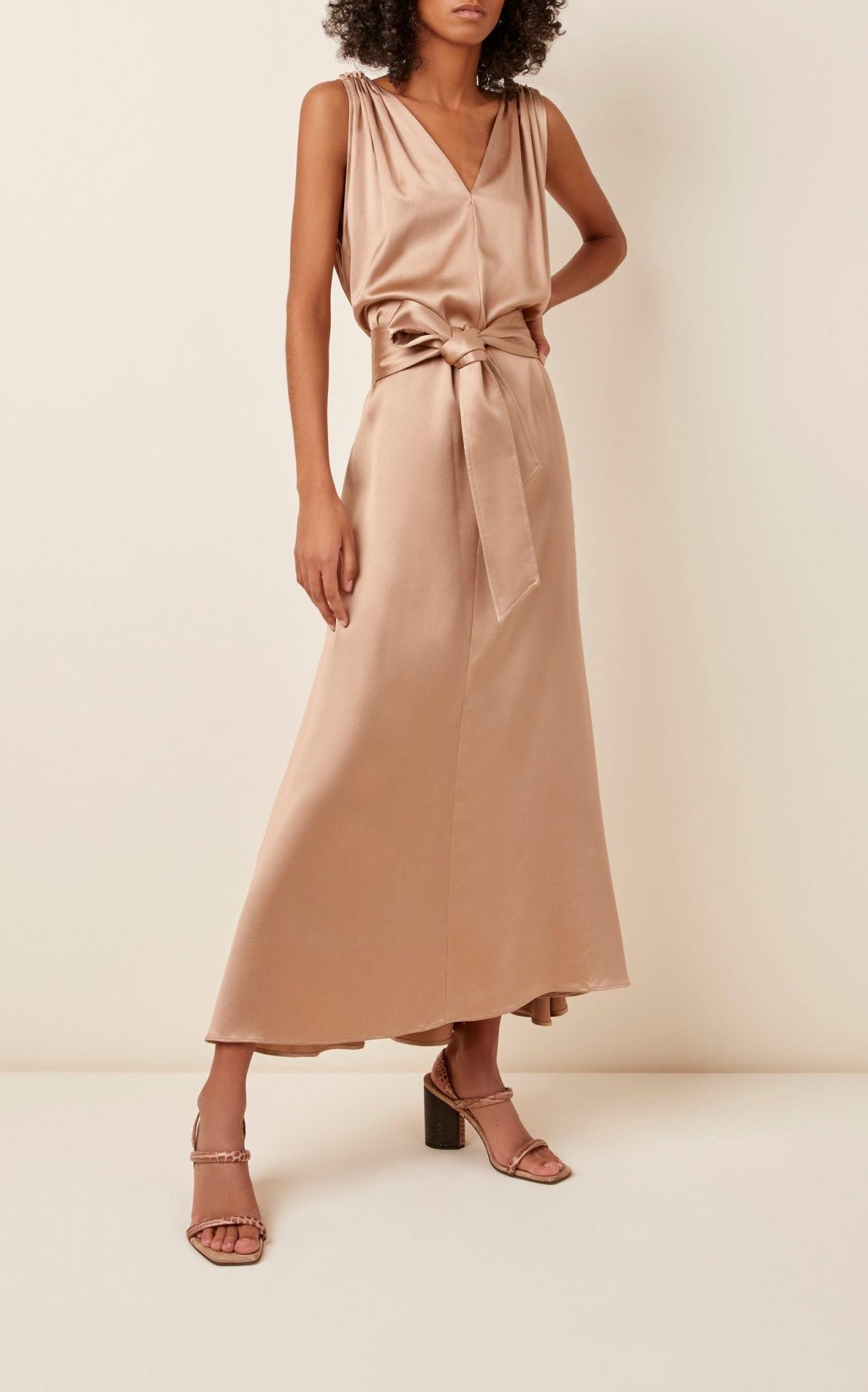 BRUNELLO CUCINELLI Statin Double-V Dress