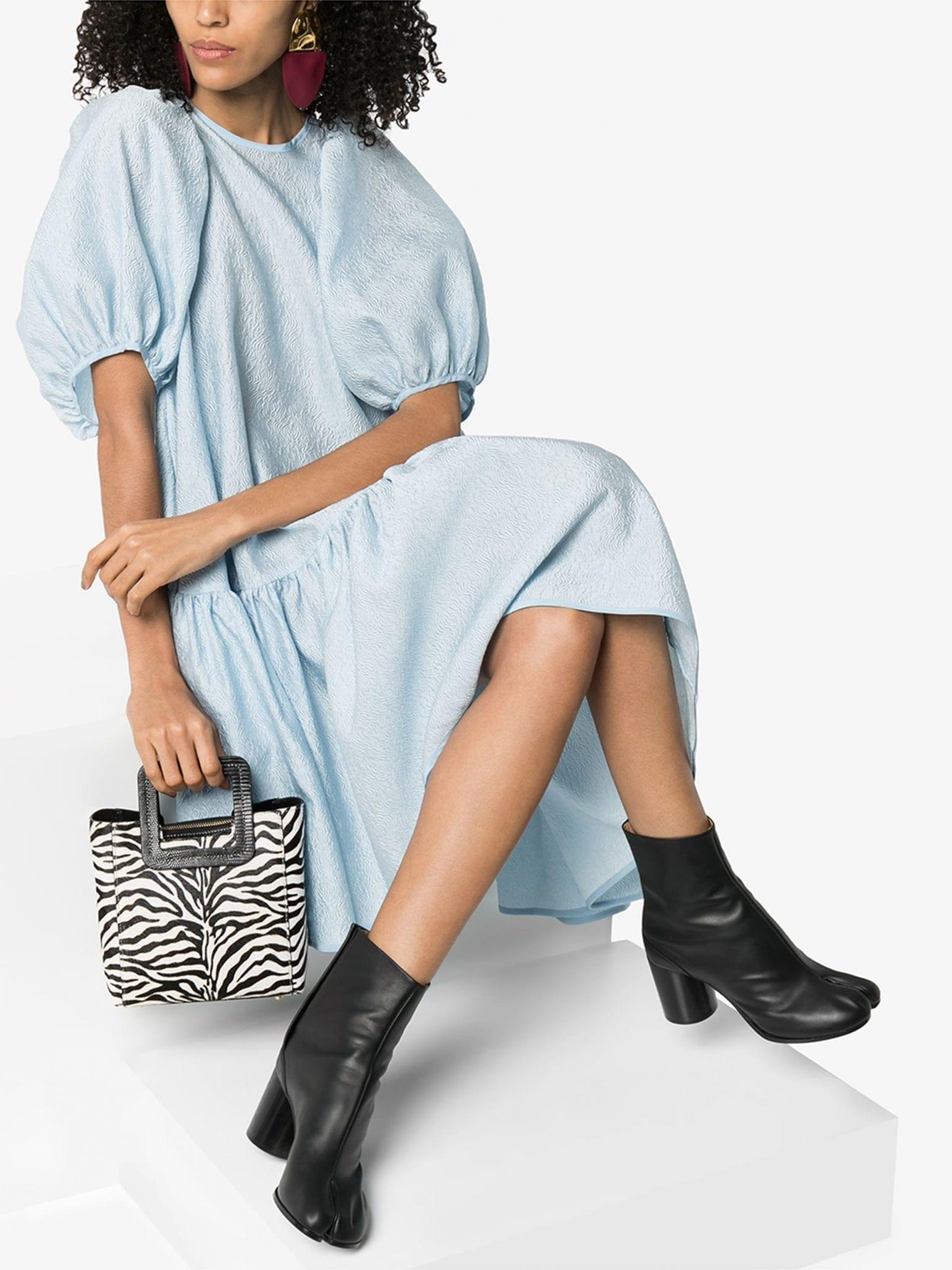 CECILIE BAHNSEN Alexa Puff Sleeve Midi Dress