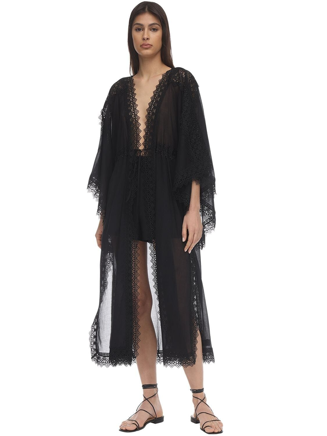 CHARO RUIZ Angela Cotton Maxi Caftan Dress