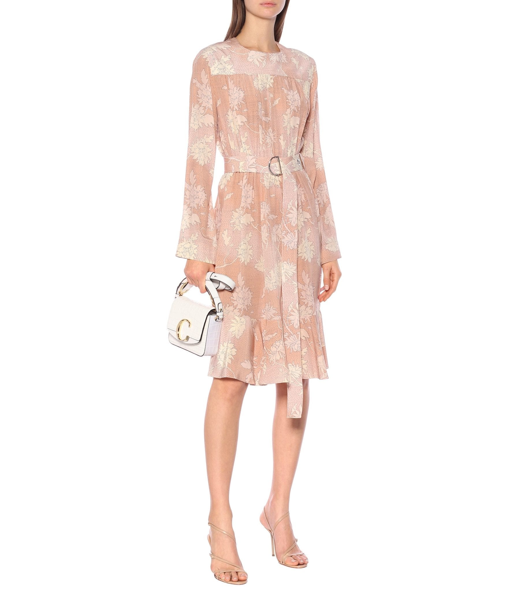 CHLOÉ Floral Silk-Satin Dress