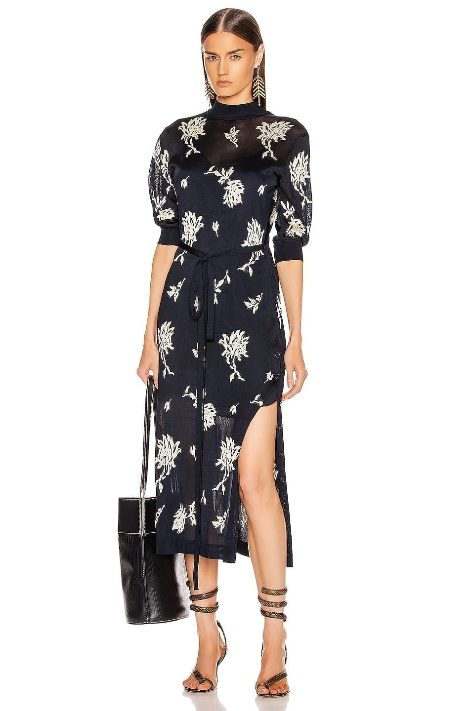 CHLOE Floral Tie Dress