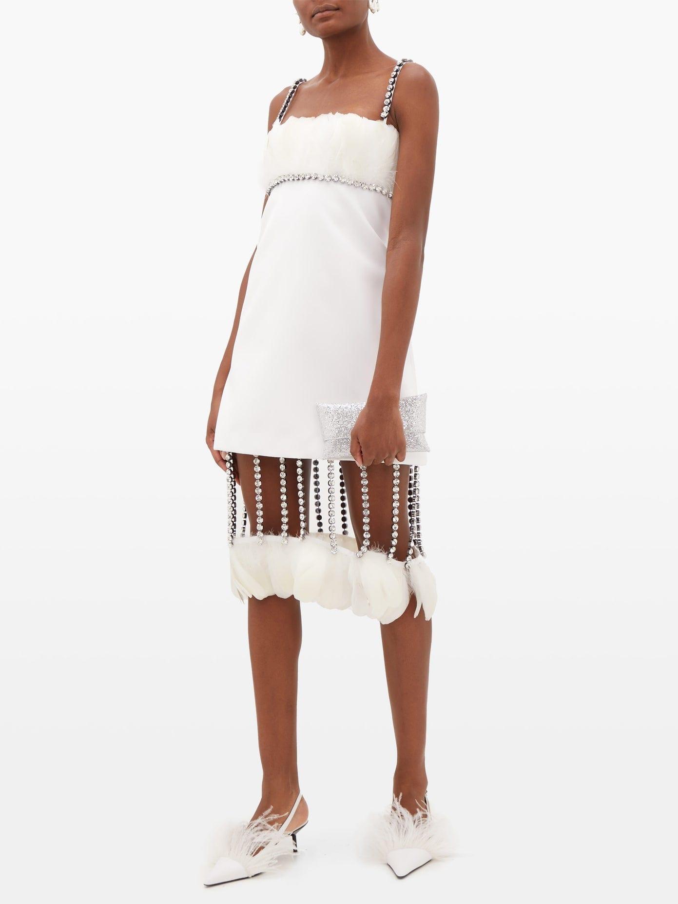 CHRISTOPHER KANE Cupchain-strap Removable-hem Duchess-satin Dress