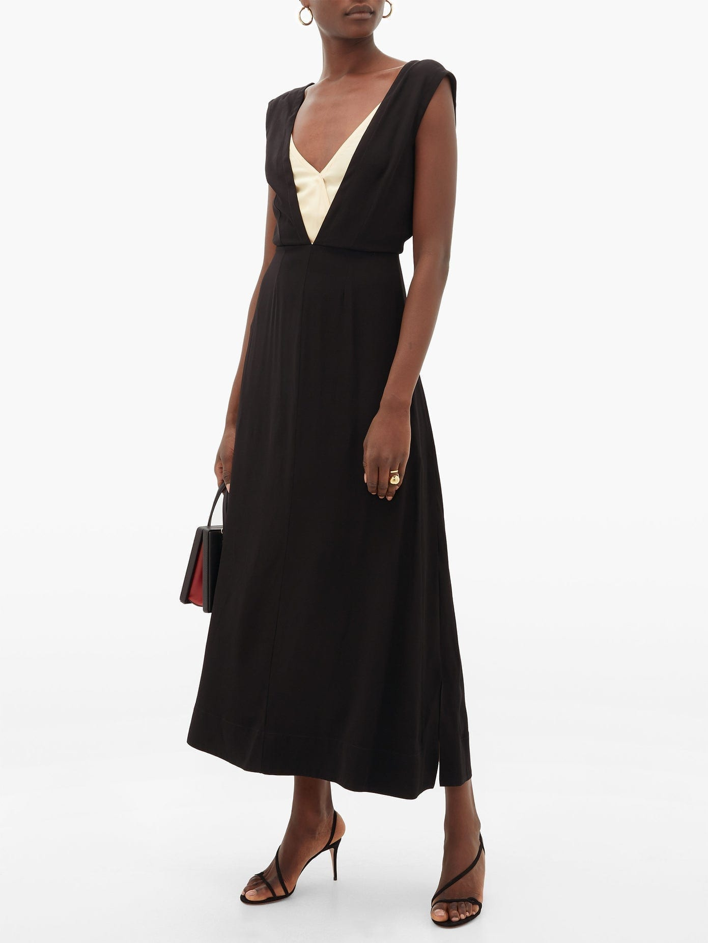 COLVILLE Layered-Bodice Dress