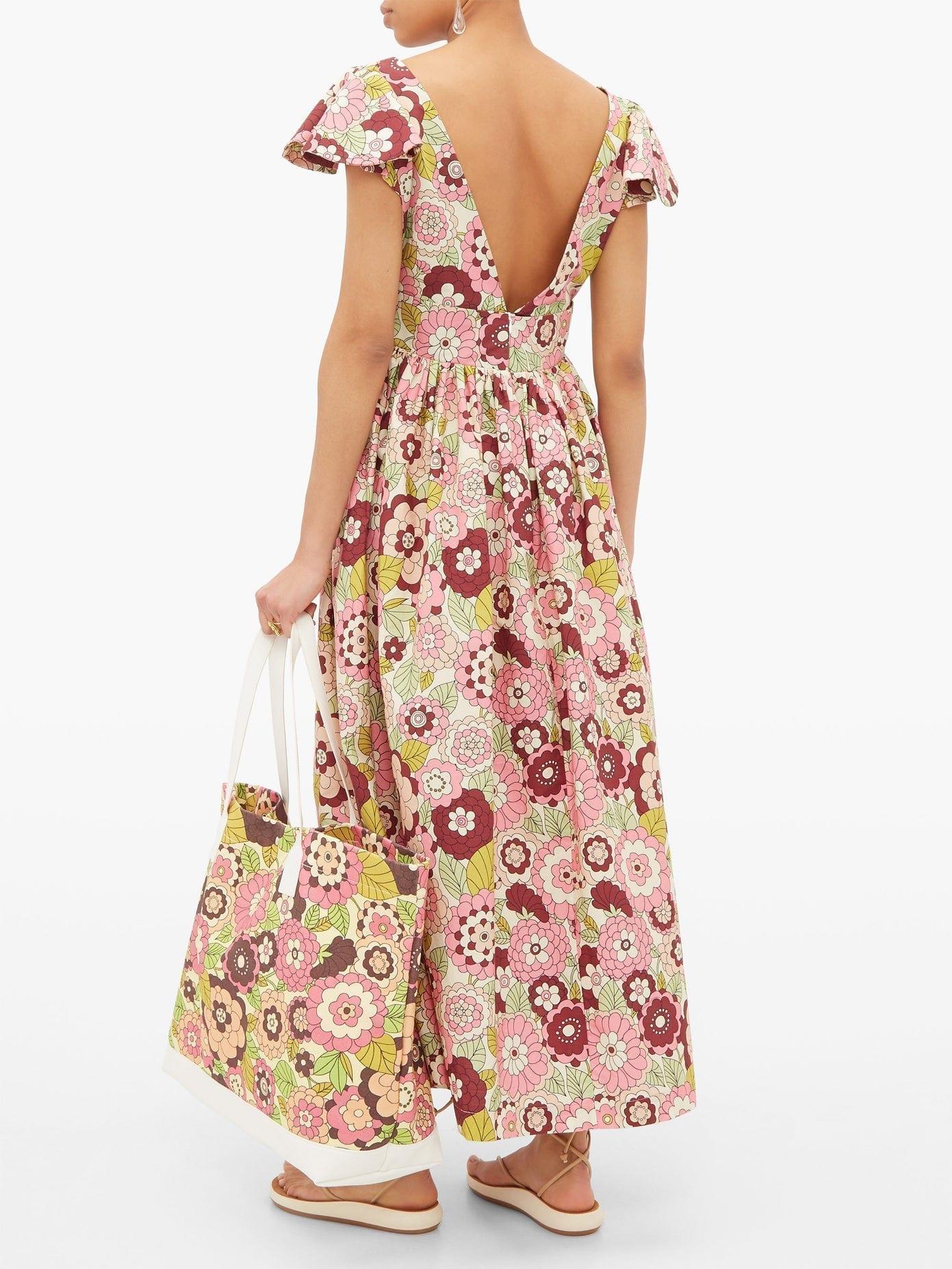 DODO BAR OR Jenny Ruffled Floral-print Twill Dress