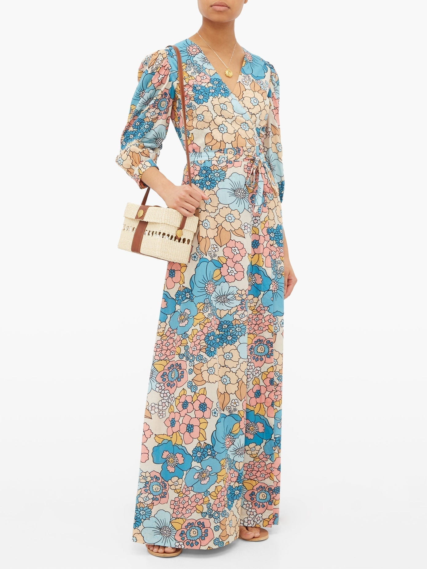 DODO BAR OR Kate Floral-print Wrap Maxi Dress