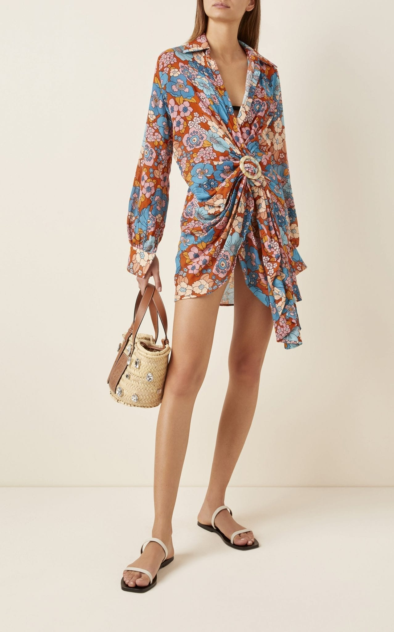 DODO BAR OR Lora Floral-Print Cotton-Voile Mini Dress