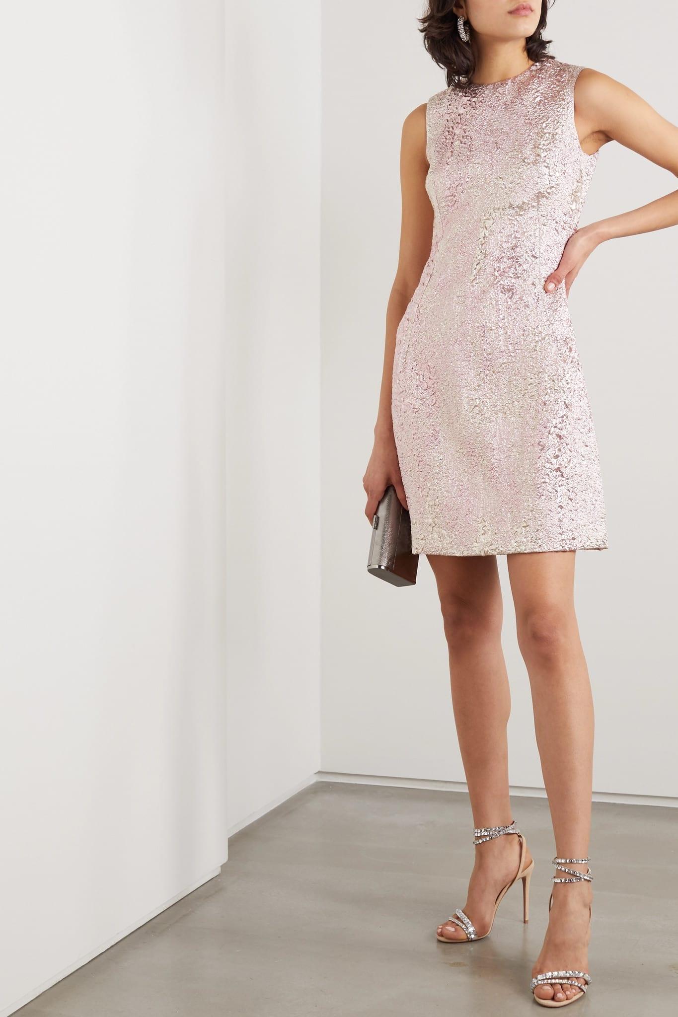 DOLCE & GABBANA Metallic Cloqué Mini Dress