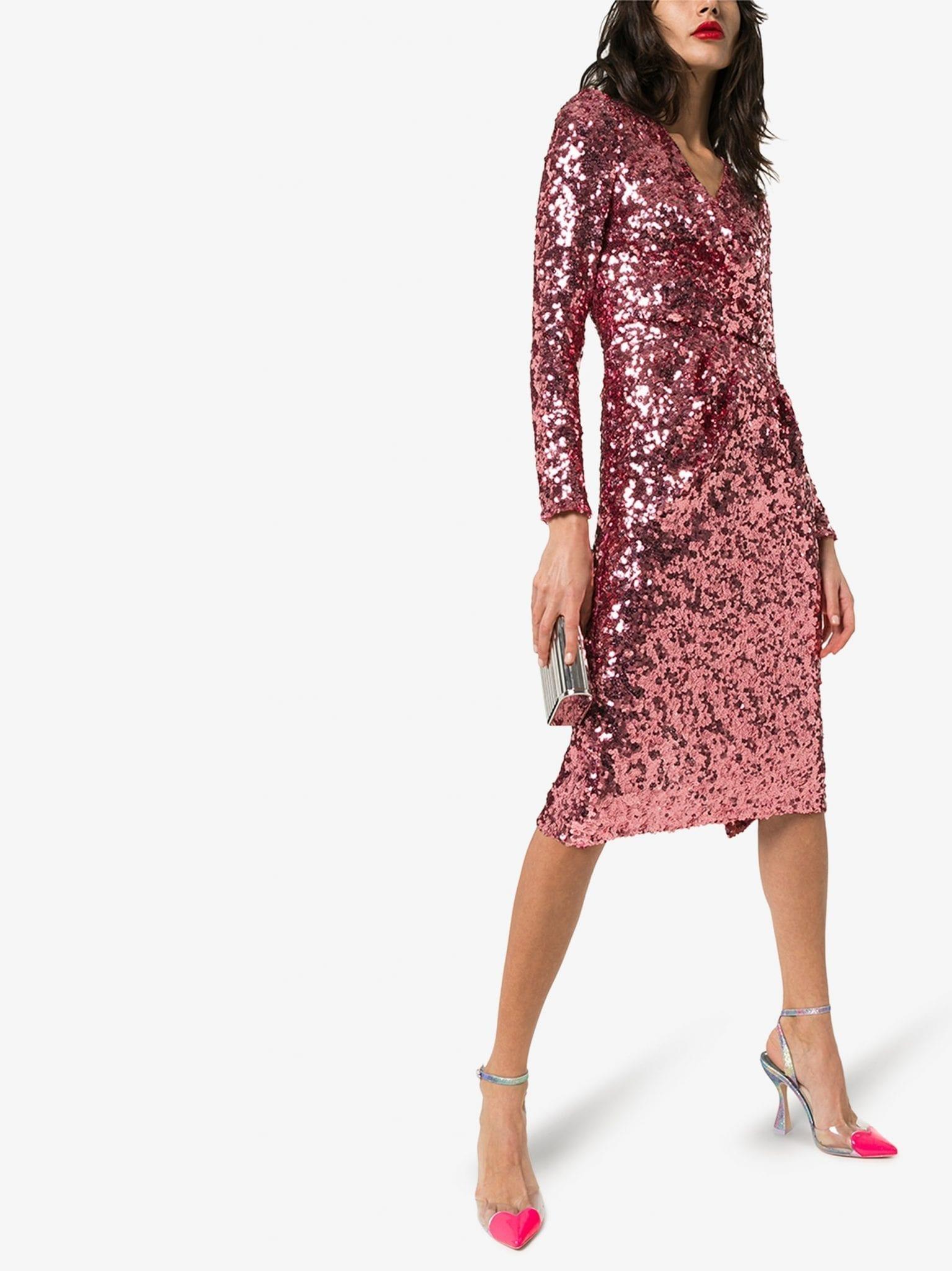 DOLCE & GABBANA Sequin Wrap Dress