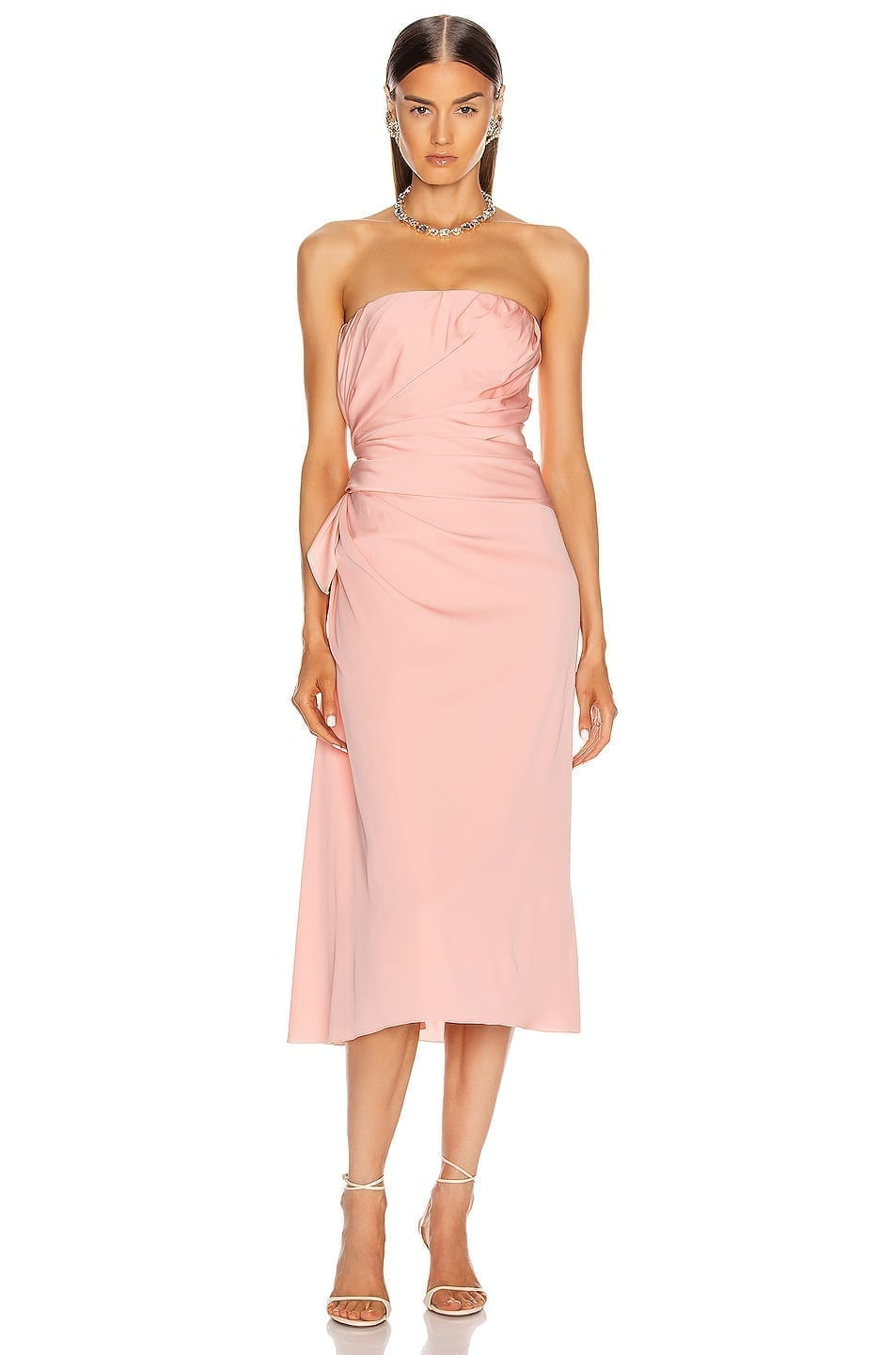DOLCE & GABBANA Strapless Midi Dress