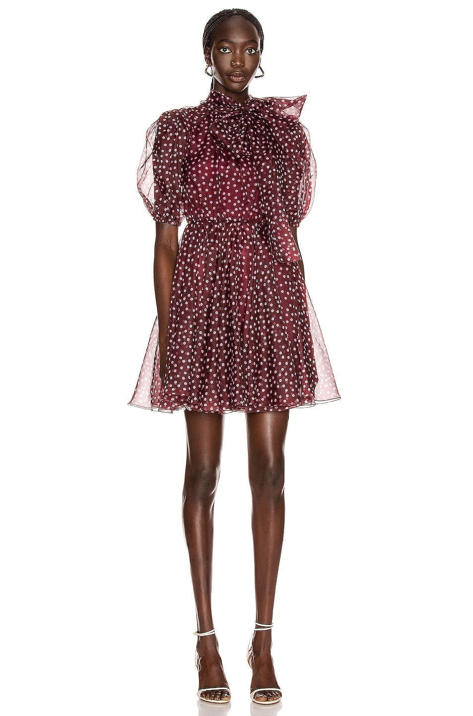 DOLCE & GABBANA Tie Polka Dot Mini Dress