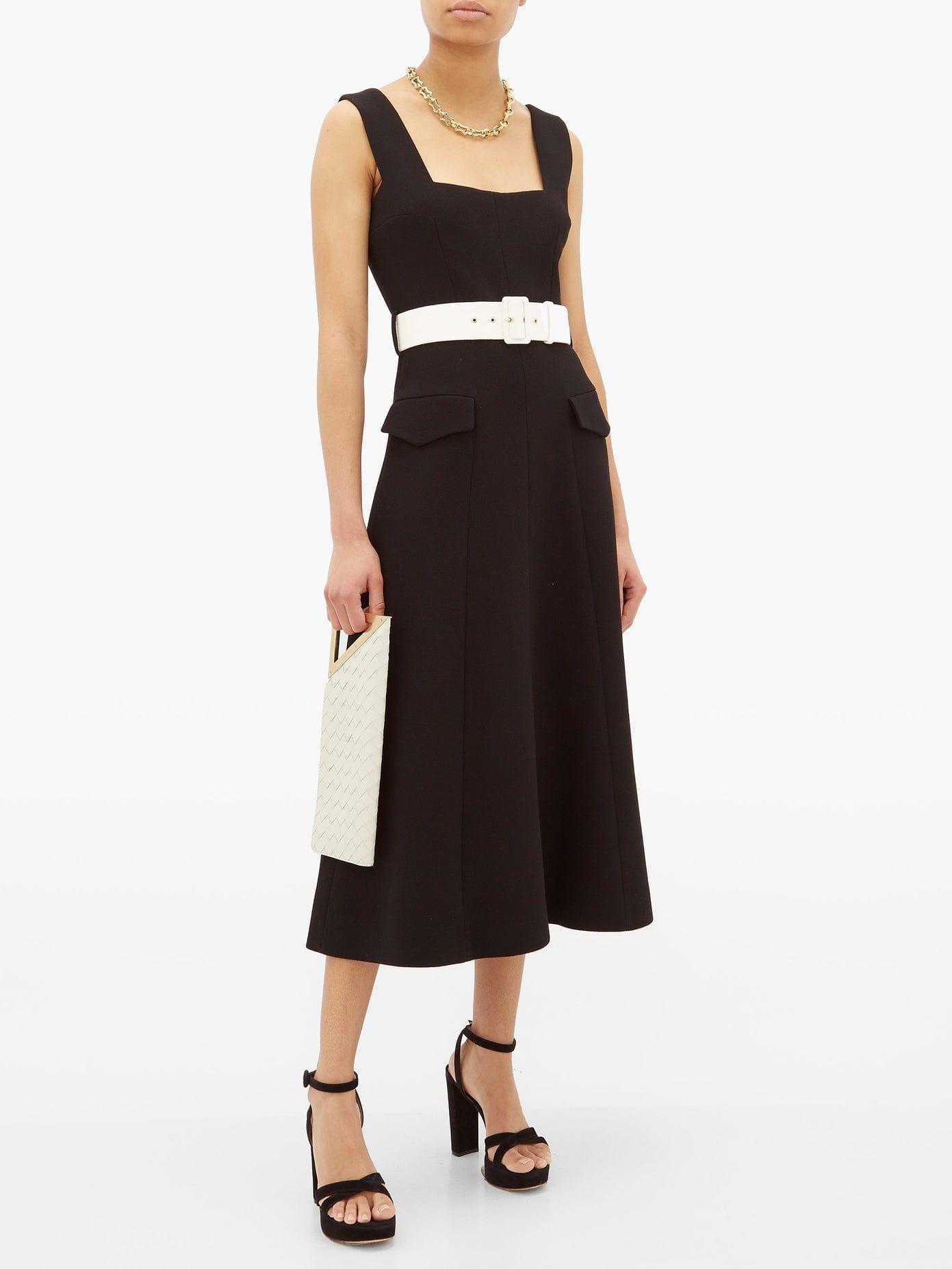 EMILIA WICKSTEAD Petra Belted Wool-Crepe Midi Dress