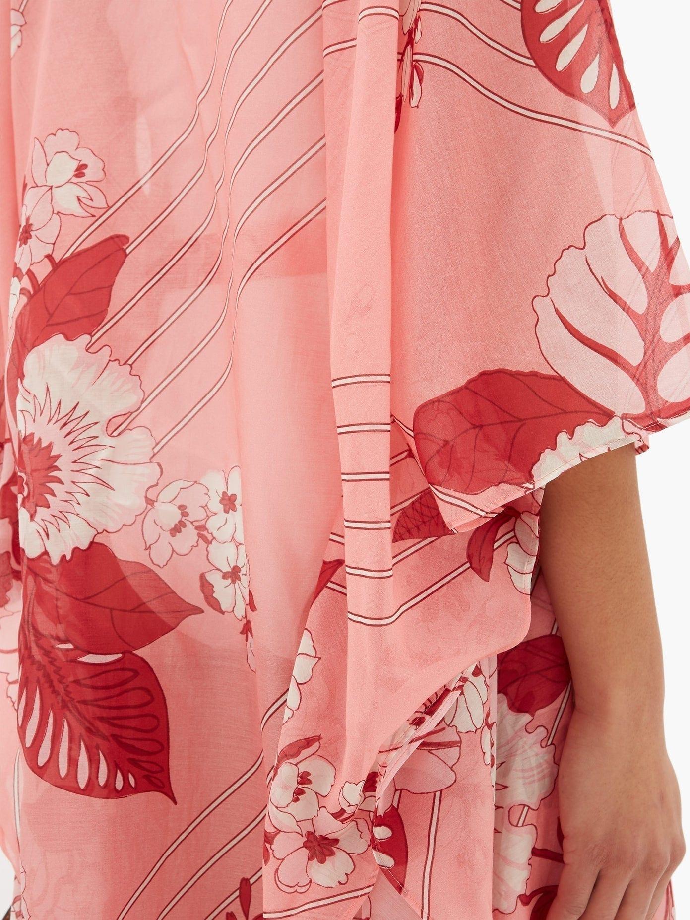 ETRO Floral-print Tie-waist Cotton-blend Kaftan Dress