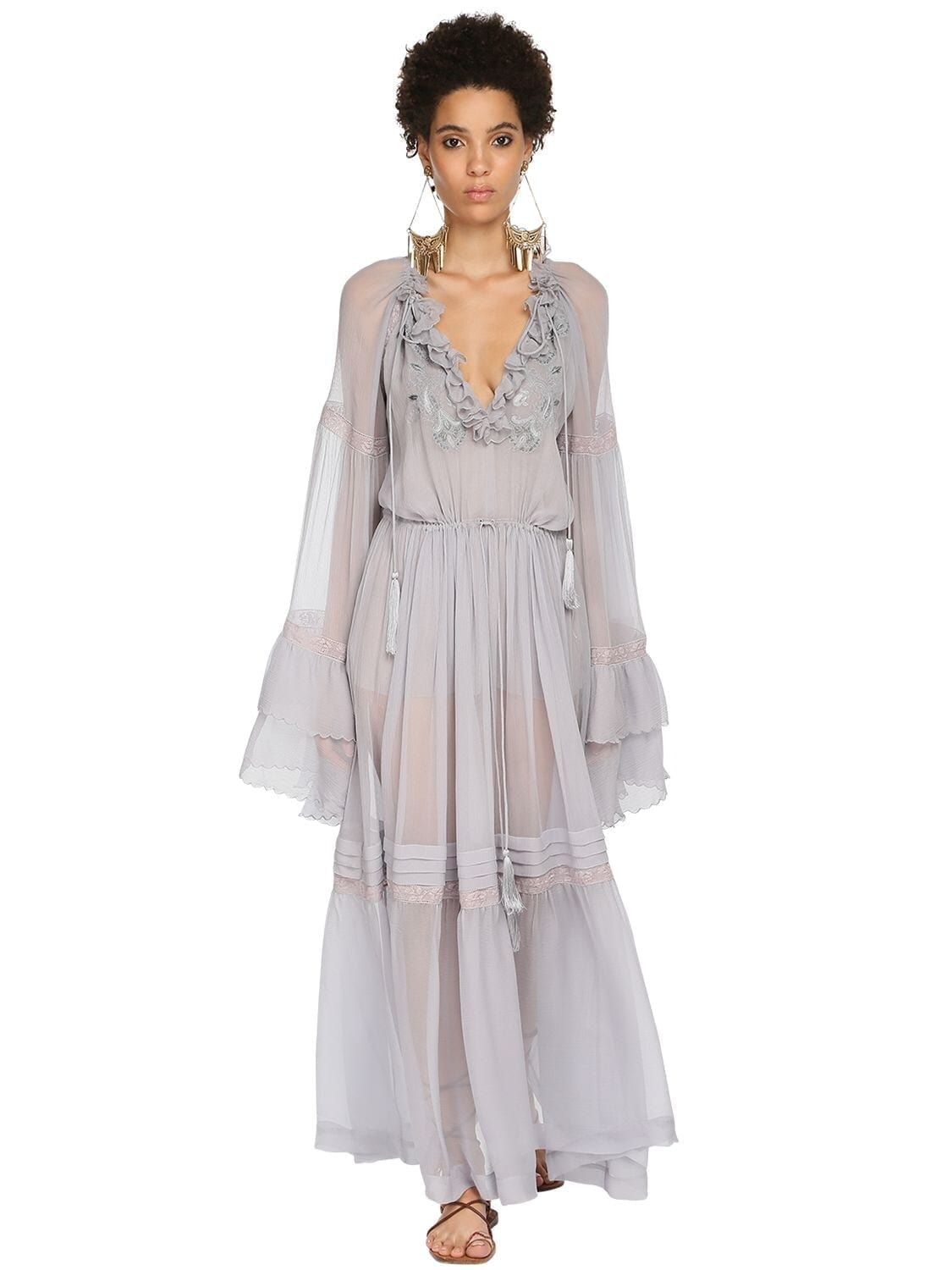 ETRO Silk Muslin Long Dress