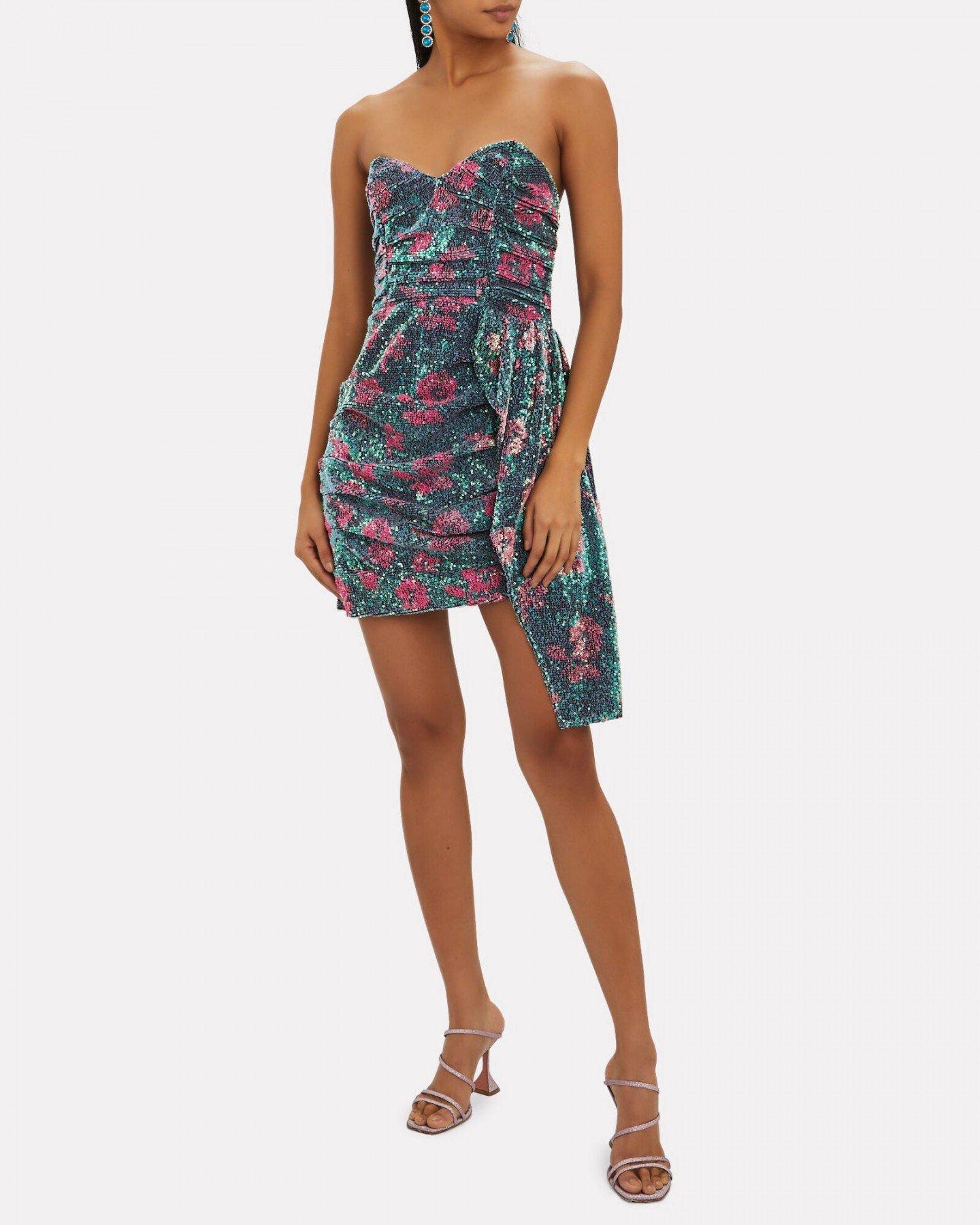 FOR LOVE & LEMONS Pauline Cosmo Sequin Mini Dress