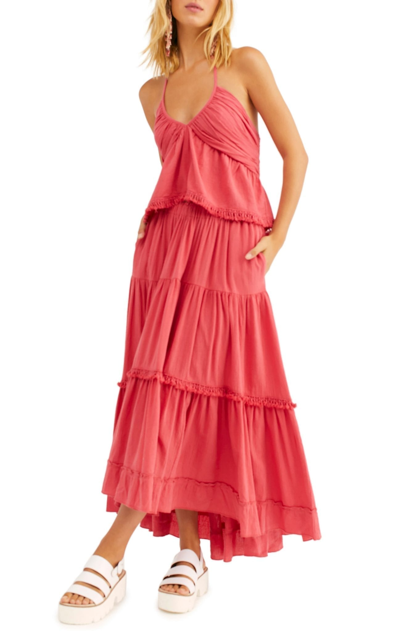 FREE PEOPLE Kahlo Halter Top & Maxi Skirt Dress