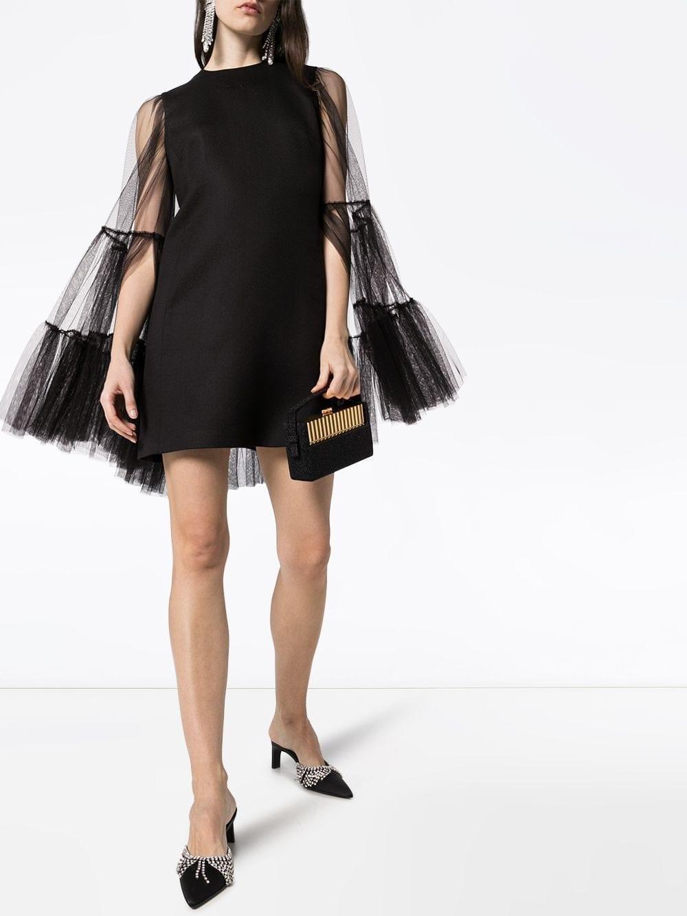 GIAMBATTISTA VALLI Tulle Sleeve Mini Dress
