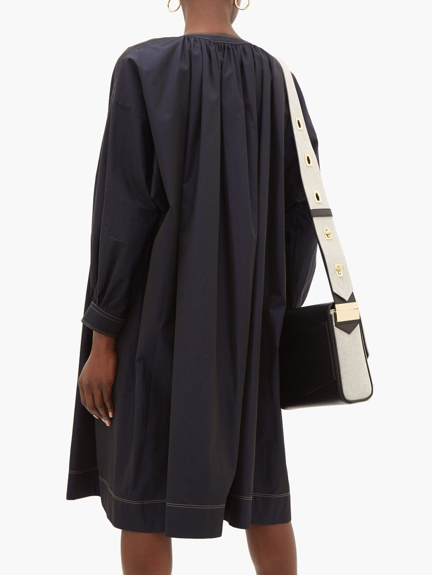 GIVENCHY Sailor Chain-neck Cotton-poplin Dress