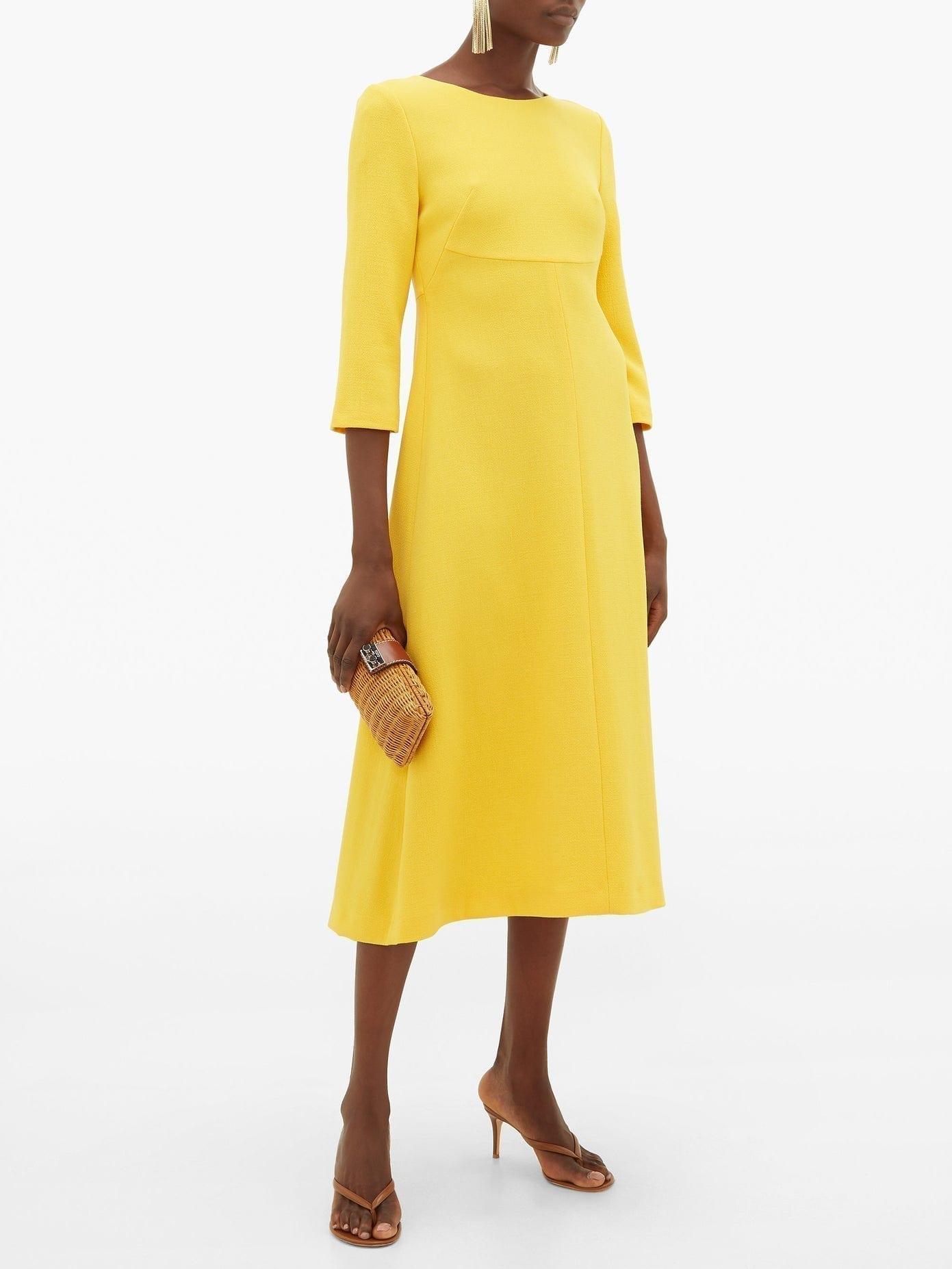 GOAT Happy Wool-crepe A-line Midi Dress