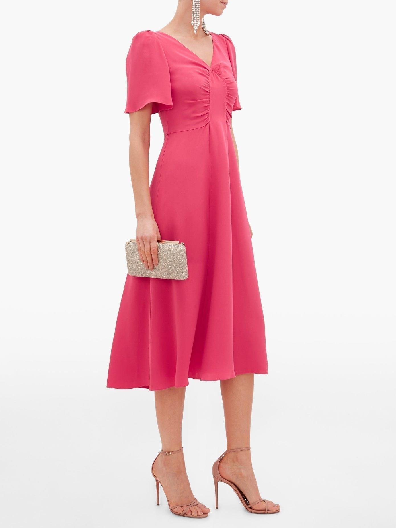 GOAT Rosemary Gathered Silk Dress