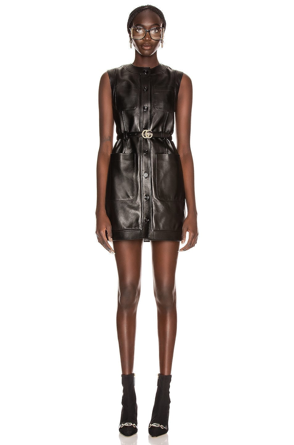 GUCCI Leather Mini Dress