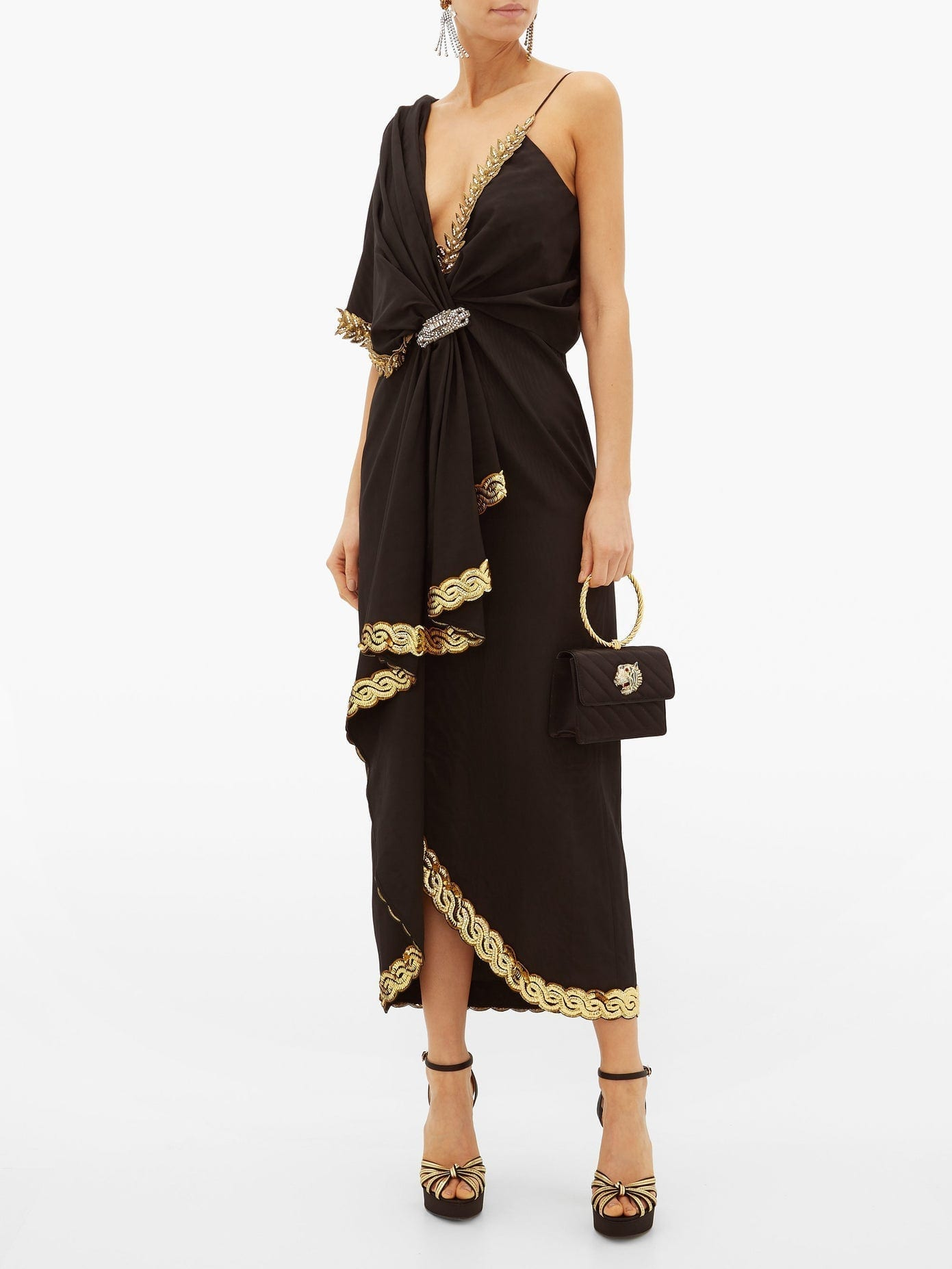 GUCCI Naomi Crystal-Embellished Moire Dress