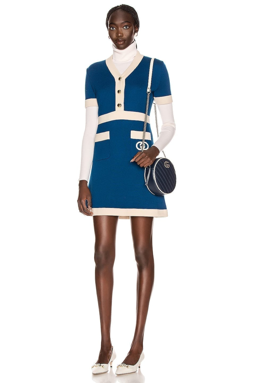 GUCCI Short Sleeve Tennis Mini Dress