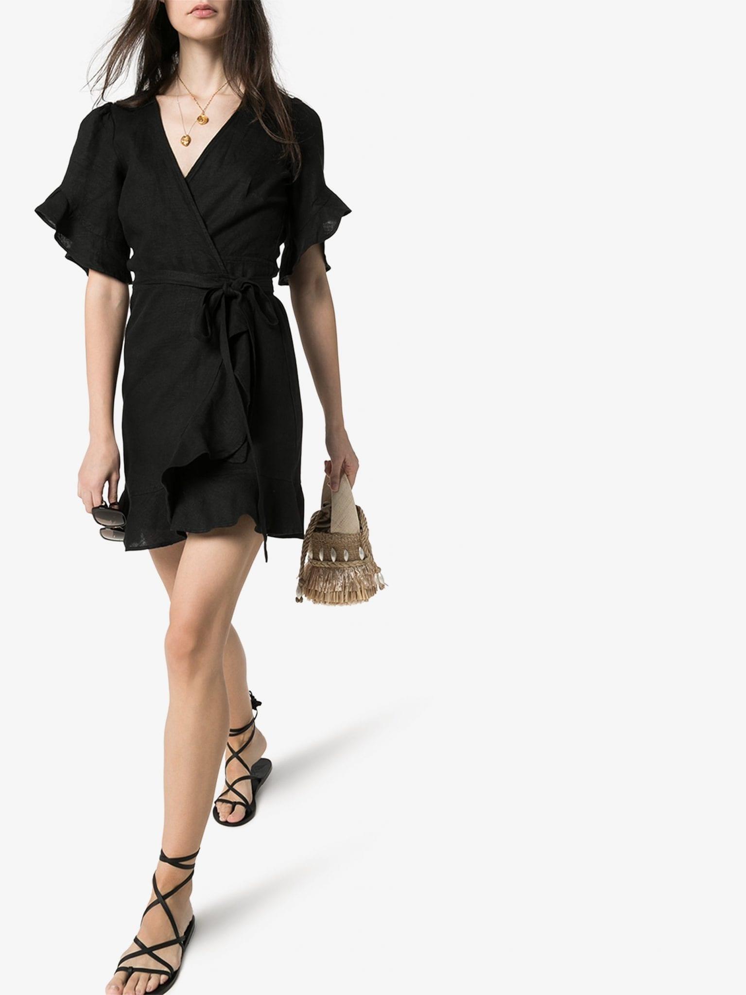 HONORINE Edie Wrap Front Mini Dress