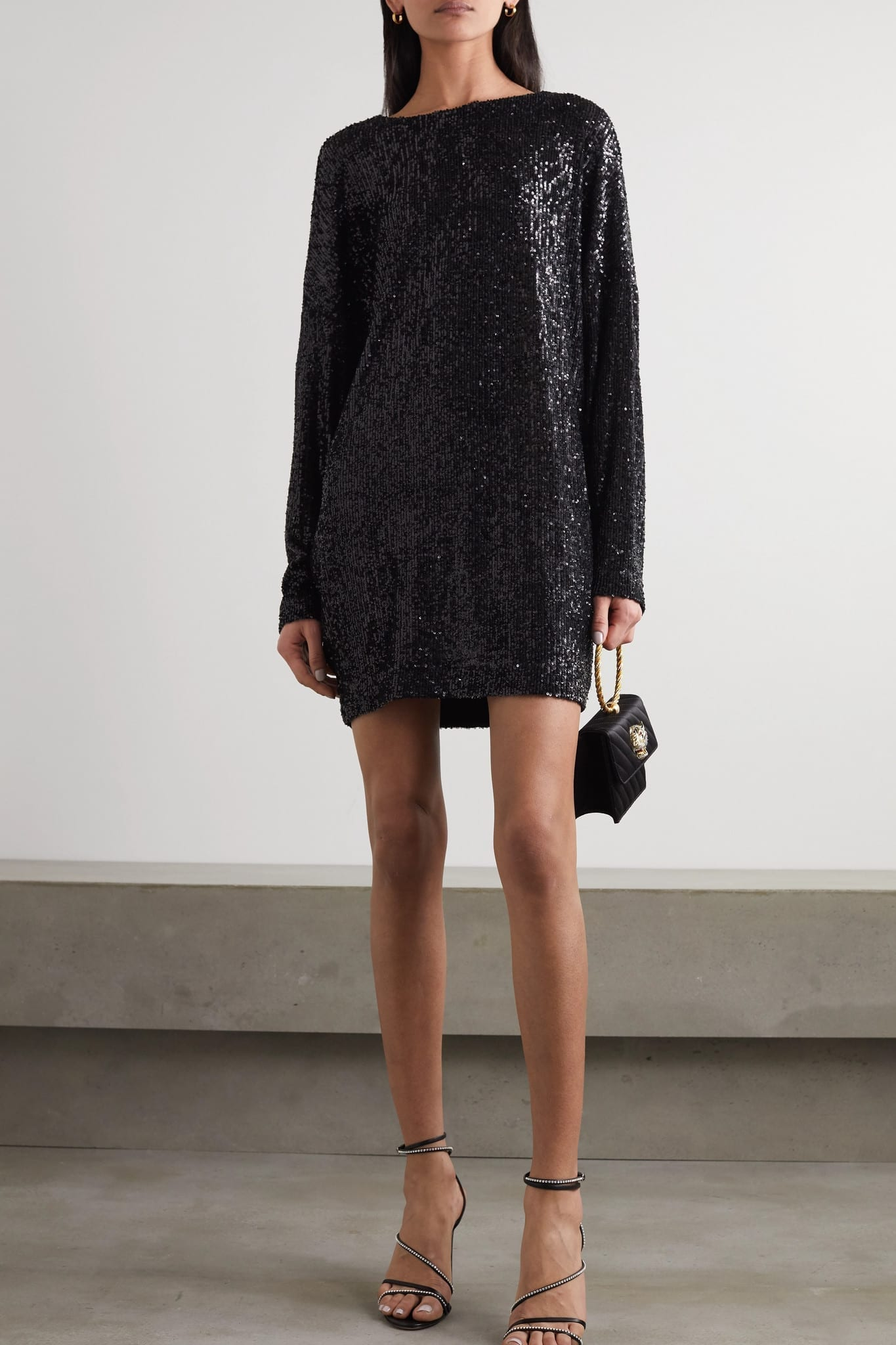 IN THE MOOD FOR LOVE Alexandra Sequined Tulle Mini Dress