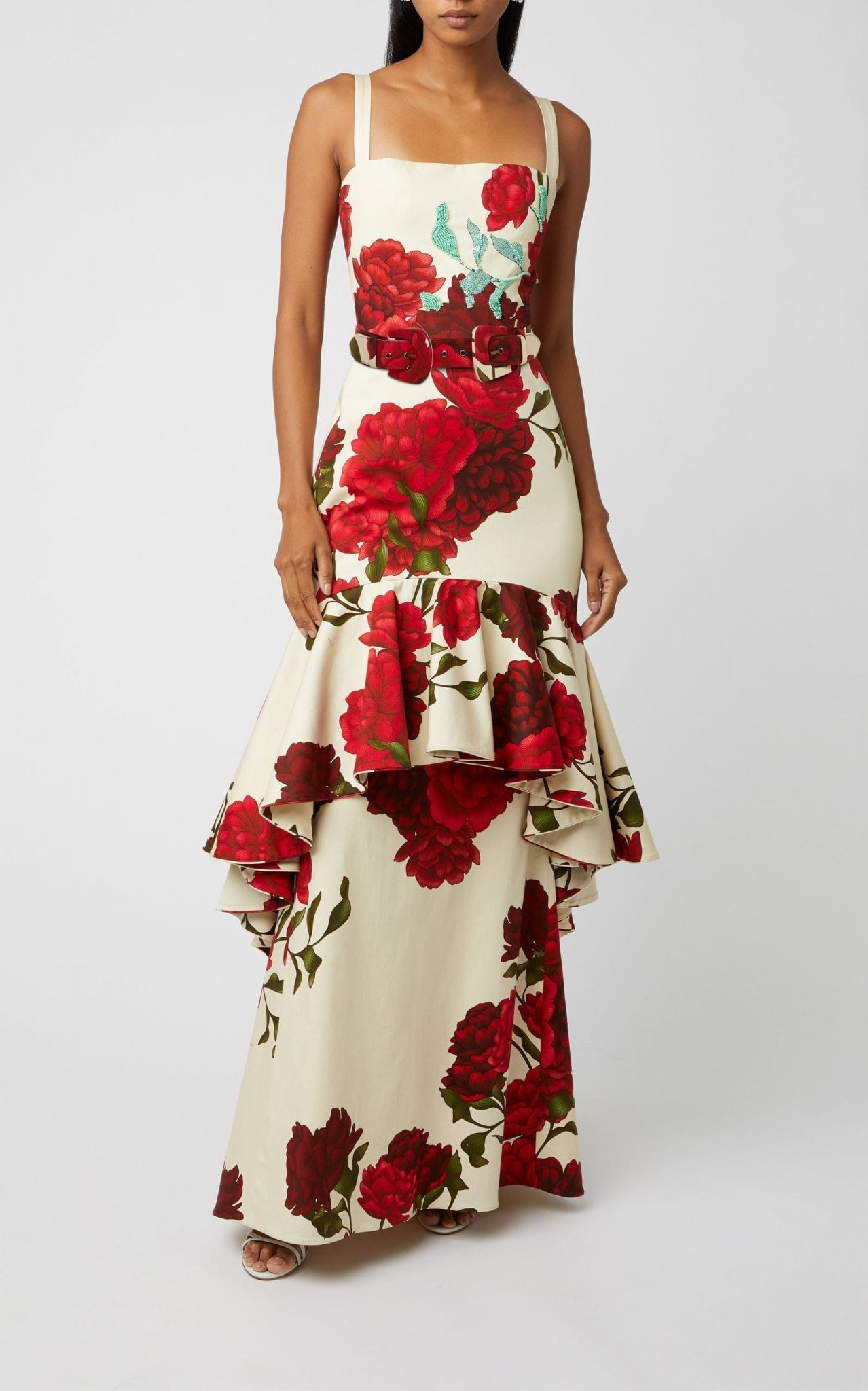 JOHANNA ORTIZ Exclusive Universal Exposition Floral-Print Cotton-Blend Gown