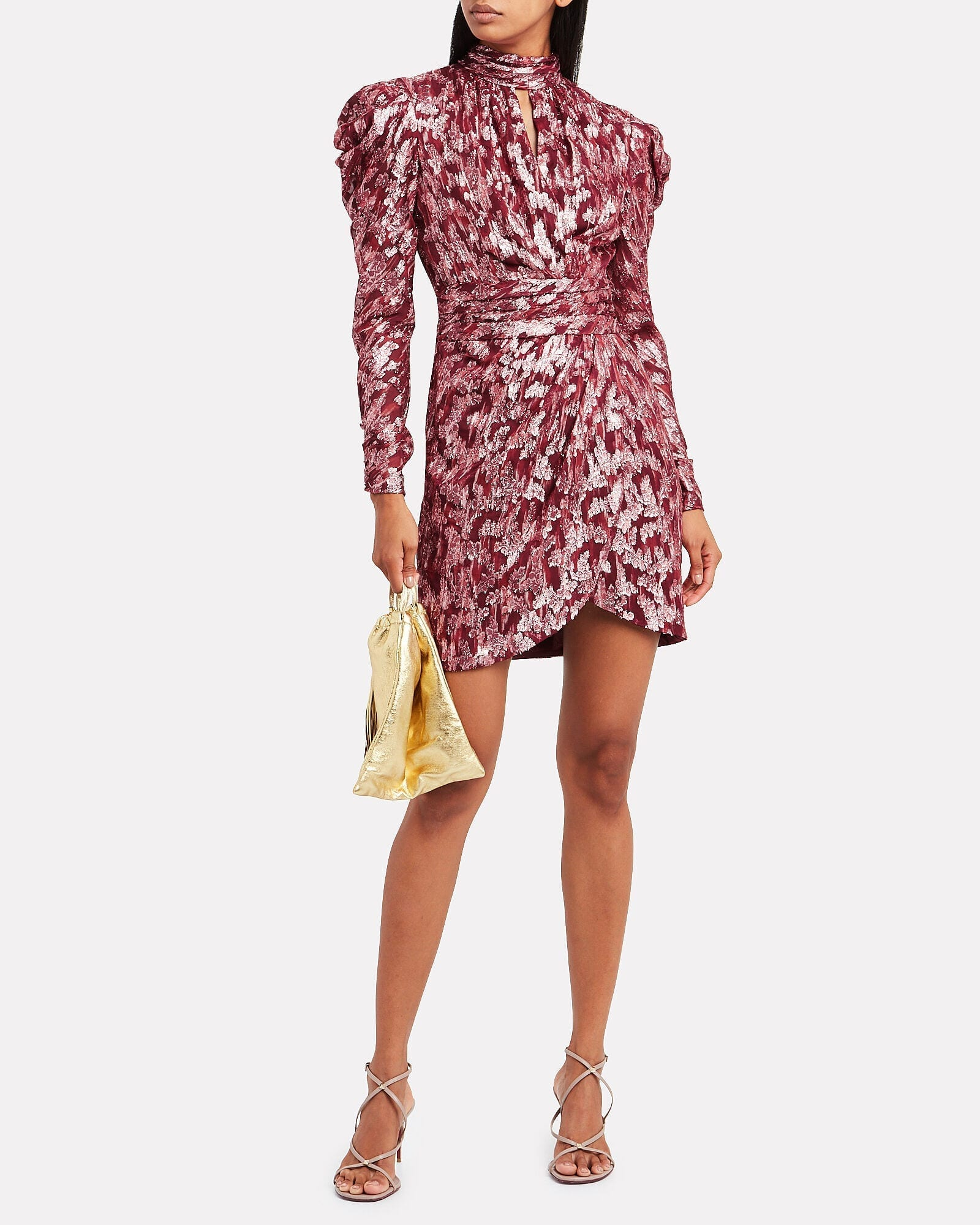 JONATHAN SIMKHAI Brocade Mini Wrap Dress