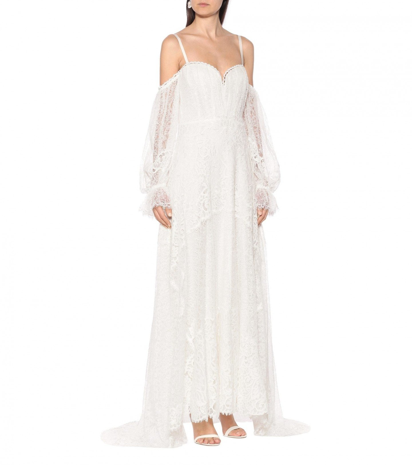 JONATHAN SIMKHAI Floral-lace Maxi Dress