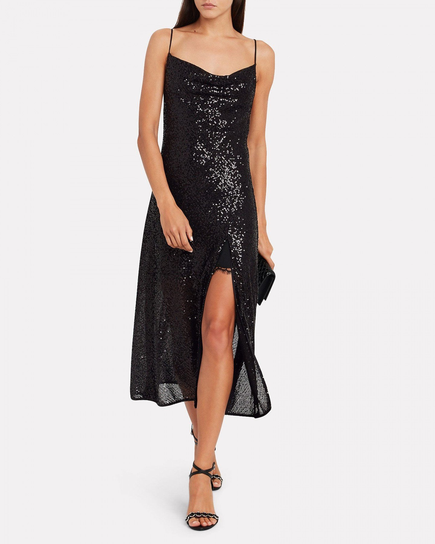 JONATHAN SIMKHAI Sequin-Embellished Slip Dress