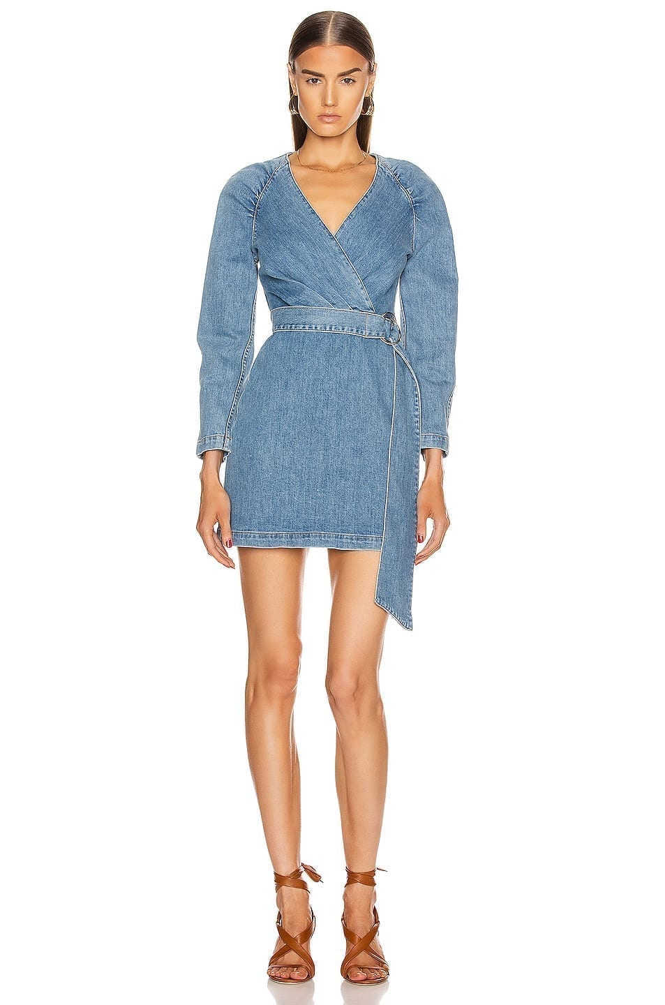 JONATHAN SIMKHAI Wrap Mini Dress