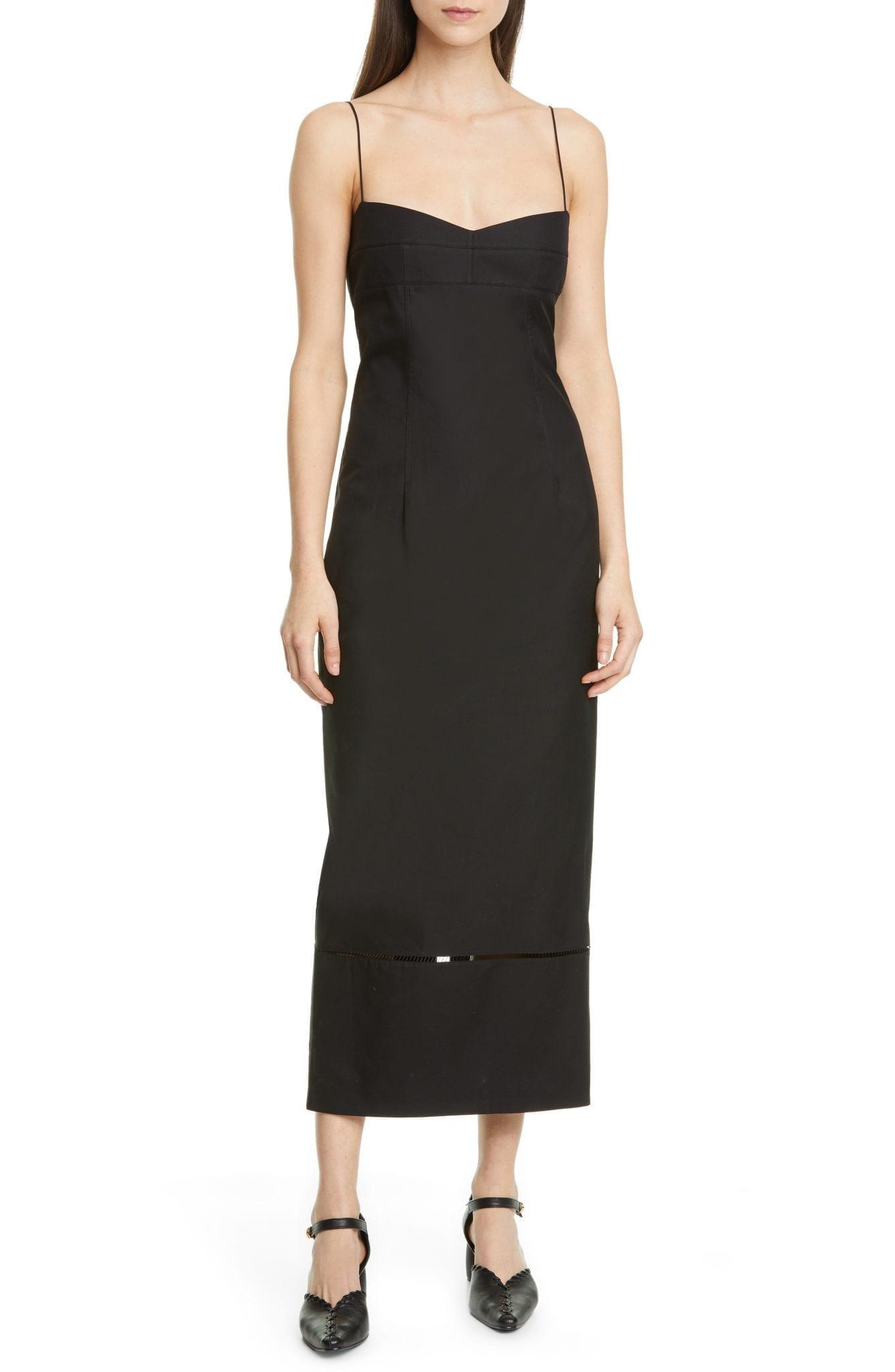 KHAITE Deirdre Cotton Twill Midi Dress