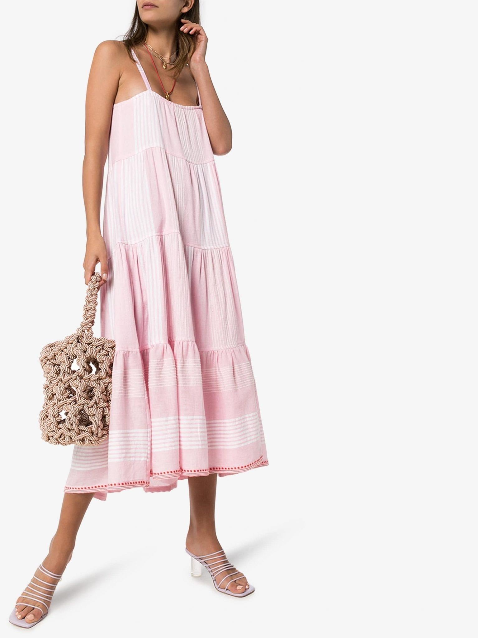 LEMLEM Rekik Striped Cotton Midi Dress