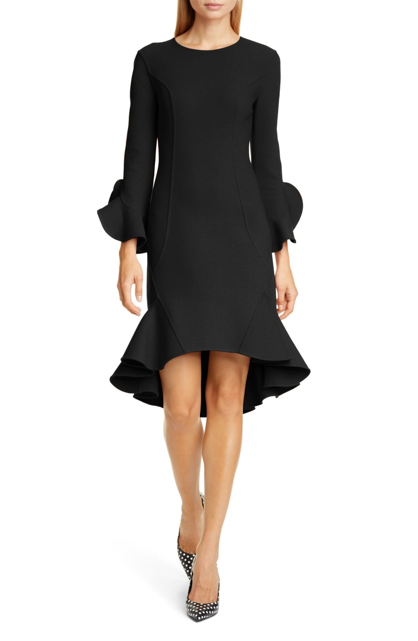 MICHAEL KORS COLLECTION Flounce Sleeve Sheath Dress