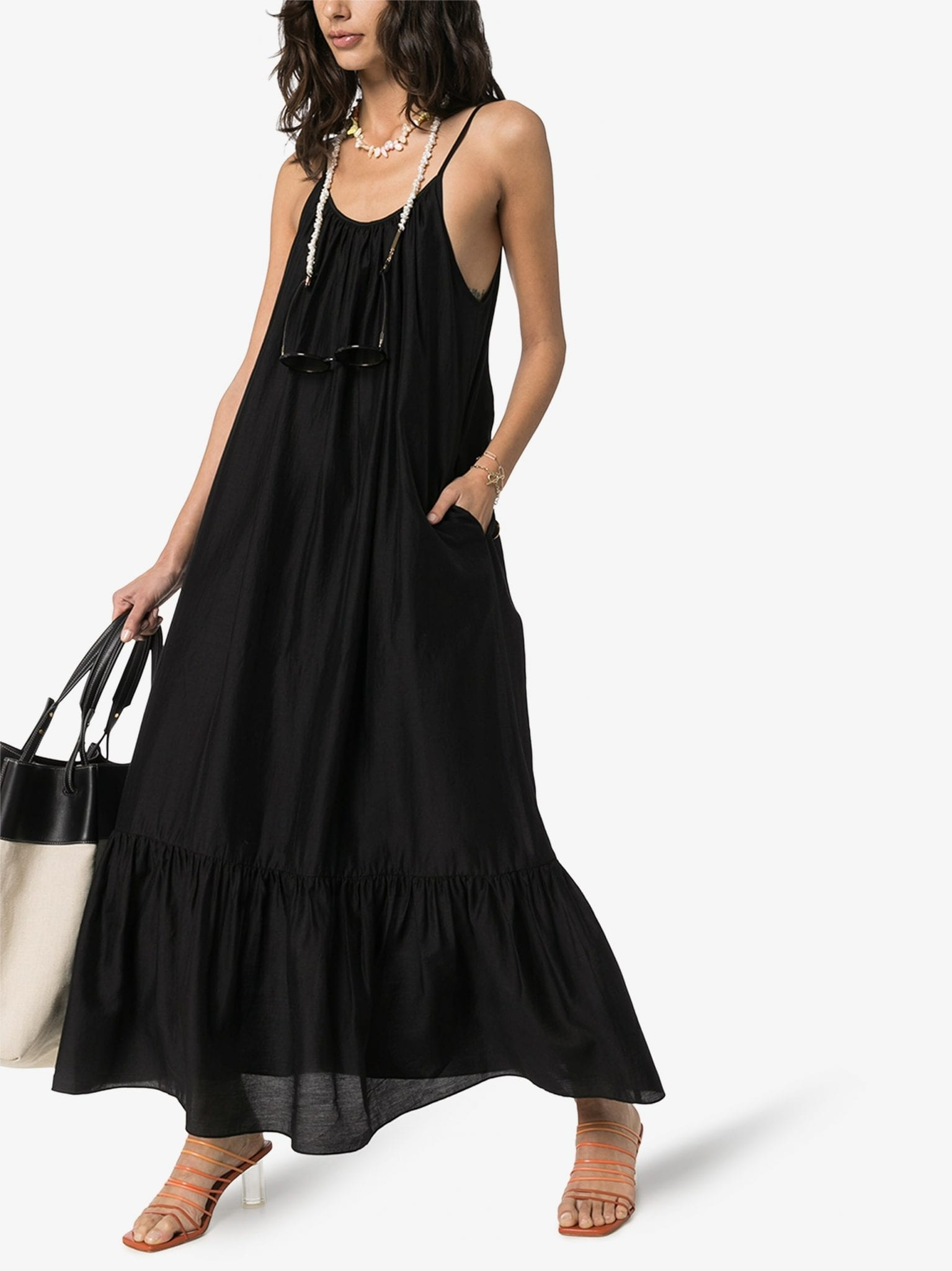 MISSING YOU ALREADY Gathered Maxi Dress