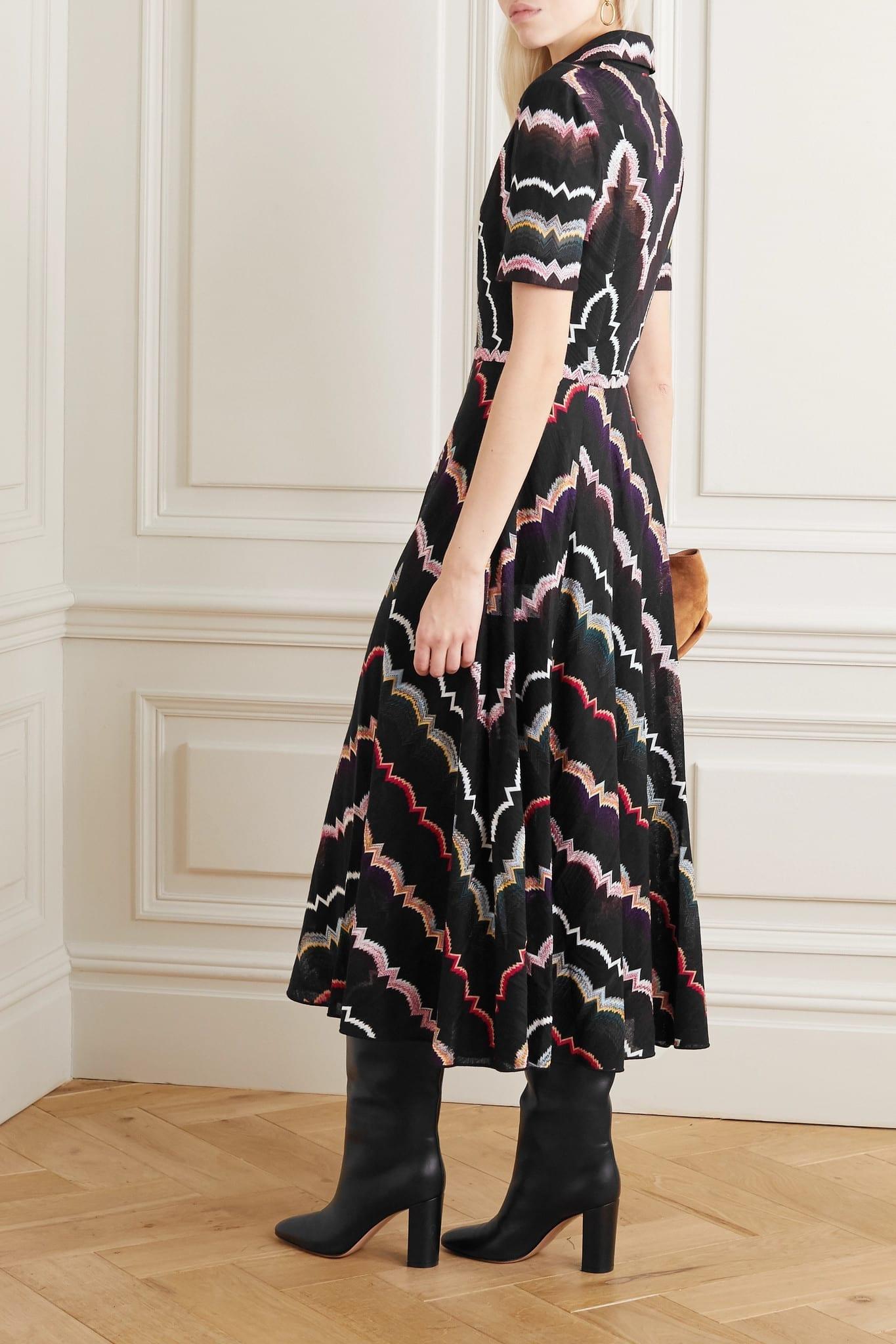 MISSONI Crochet-knit Cotton-blend Midi Dress