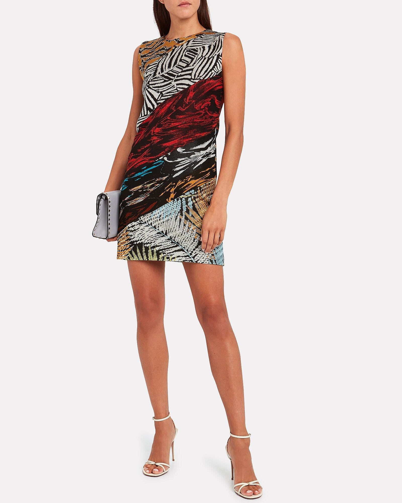 MISSONI Mixed Knit Jacquard Shift Dress