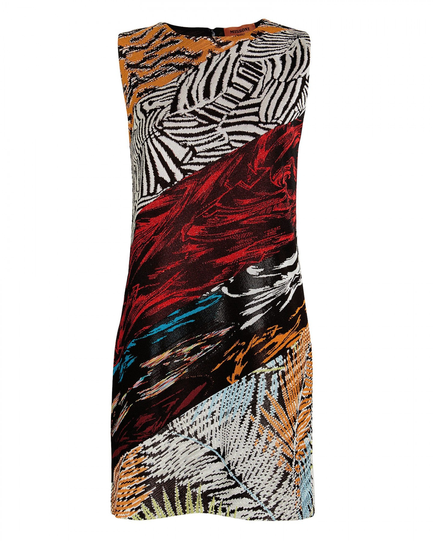 MISSONI Mixed Knit Jacquard Shift Dress