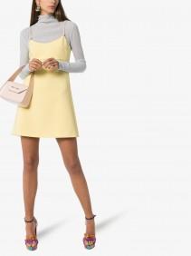 MIU MIU Swarovski Strap Empire Waist Mini Dress