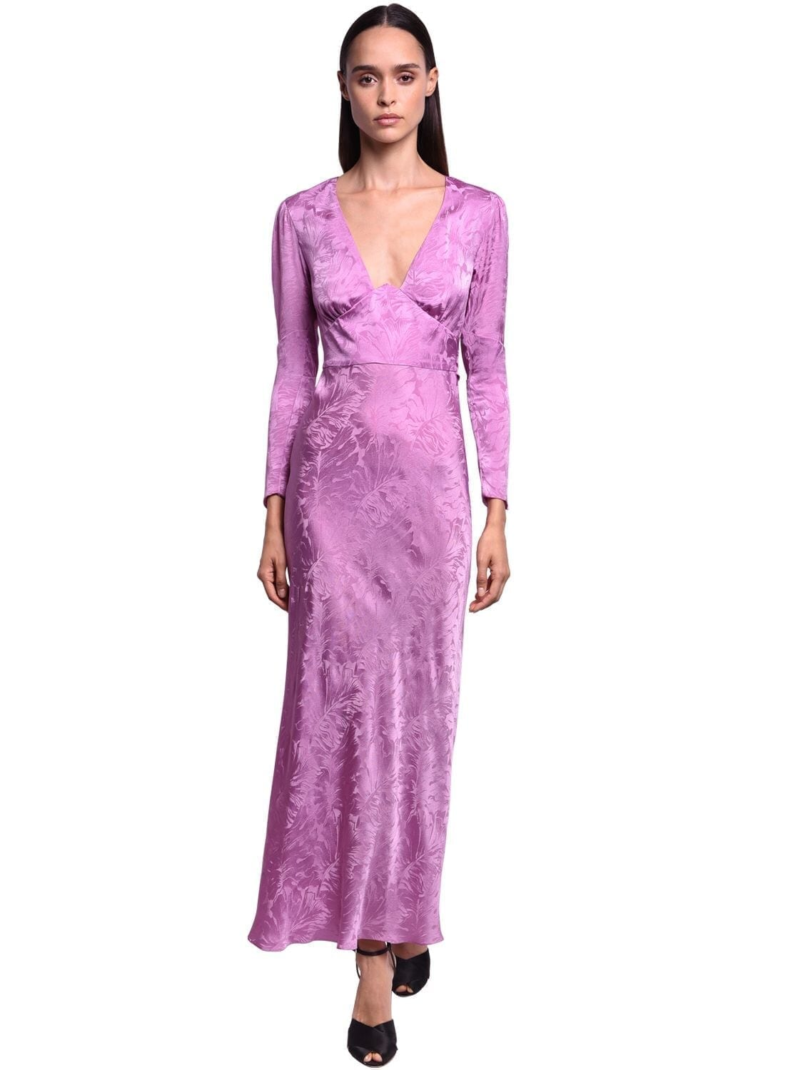 NERVI Satin Jacquard Long Dress