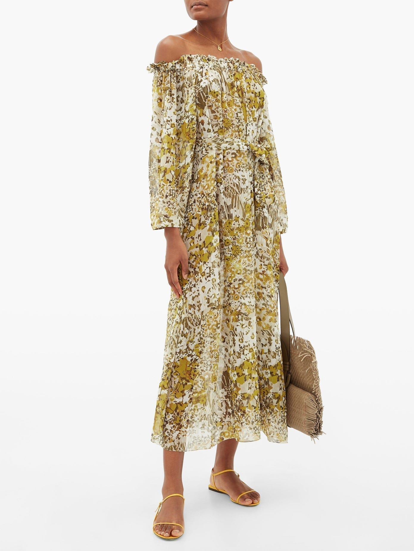 ON THE ISLAND BY MARIOS SCHWAB Los Bajos Floral-print Silk-georgette Dress