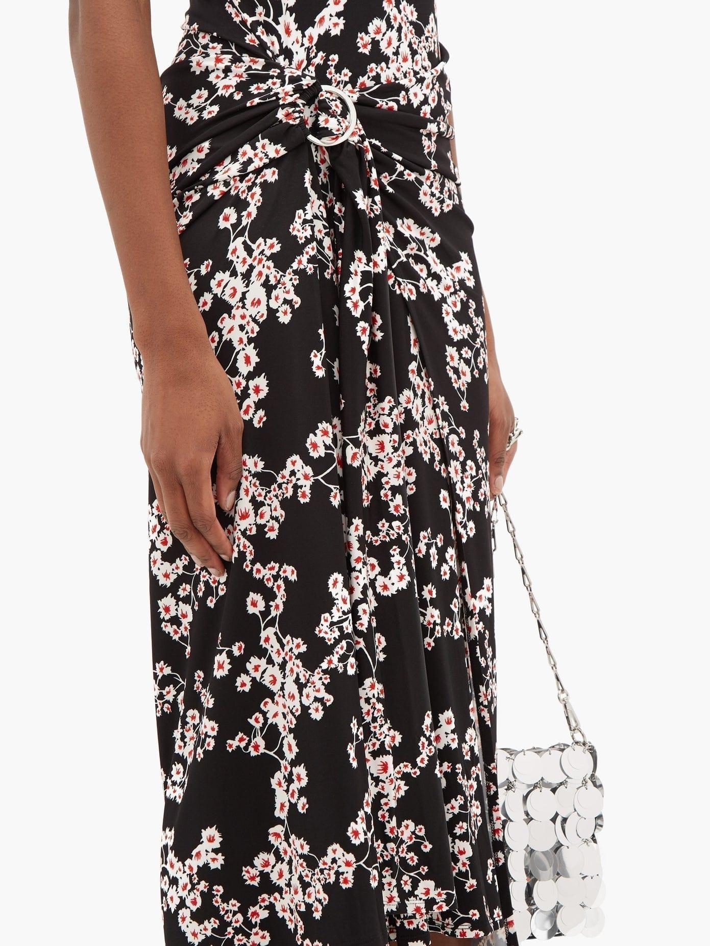 PACO RABANNE Floral-Print Jersey Wrap Dress
